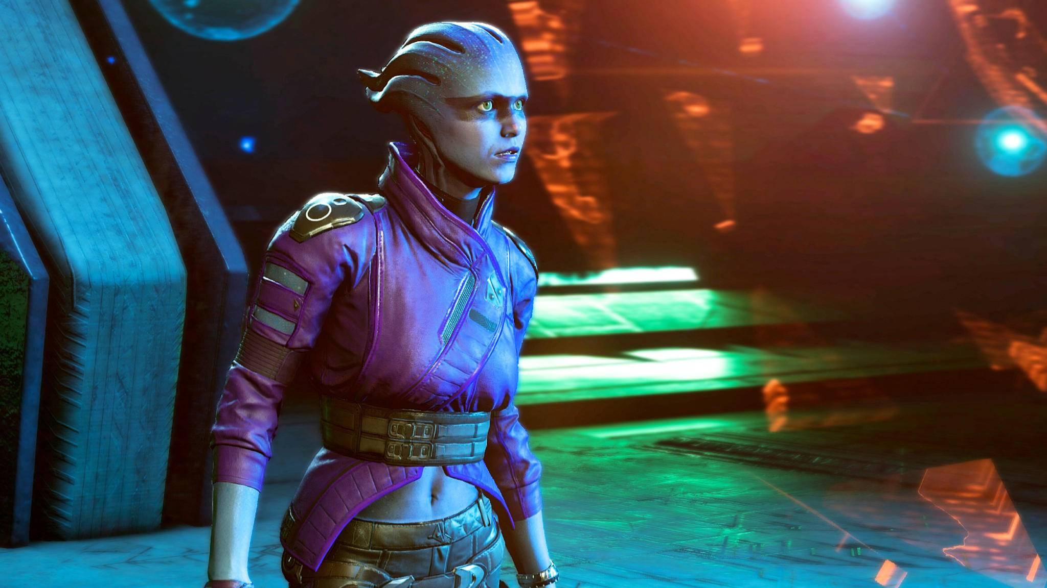 "Mit der Asari Peebee kann Dein Charakter in ""Mass Effect: Andromeda"" anbandeln."