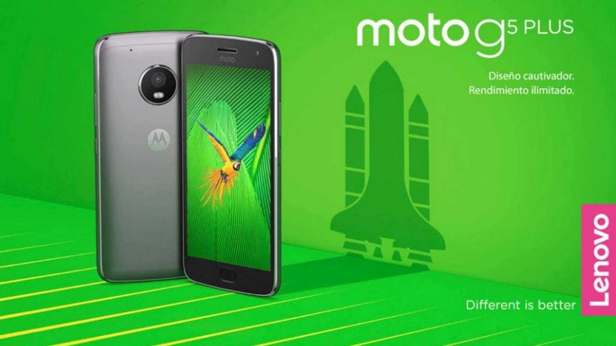 So wird das Moto G5 Plus aussehen.
