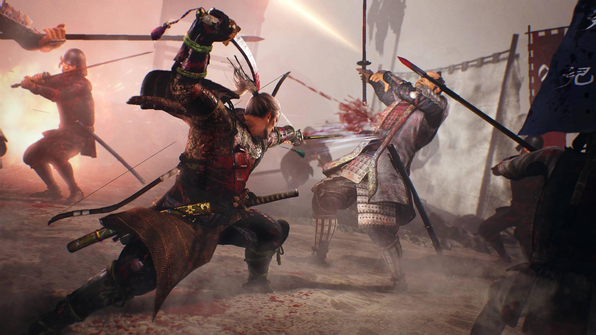 """Die Samurai-Kämpfe von """"Nioh"""" gibt's bislang nur auf PS4 und PC – aber das könnte sich ändern."""