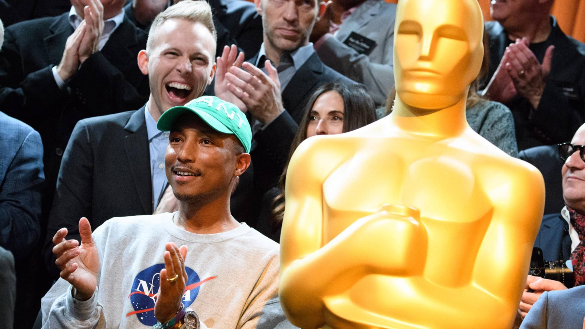 Ob Pharrell Williams bei den Oscars 2017 erfolgreich ist?