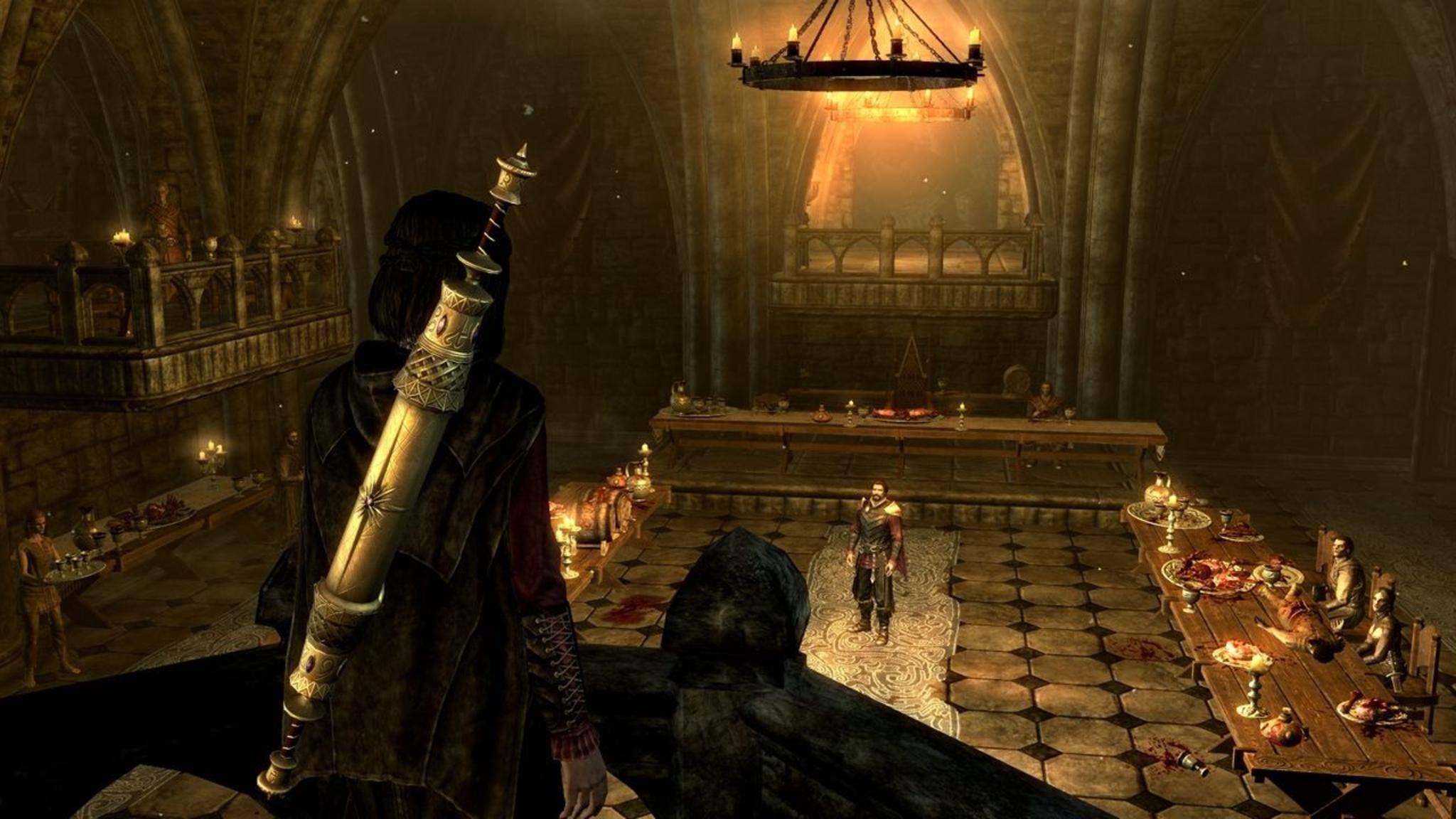 """Spannend, aber herrausfordernd: Das Leben als Vampir in """"The Elder Scrolls 5: Skyrim"""" ist kein Zuckerschlecken."""