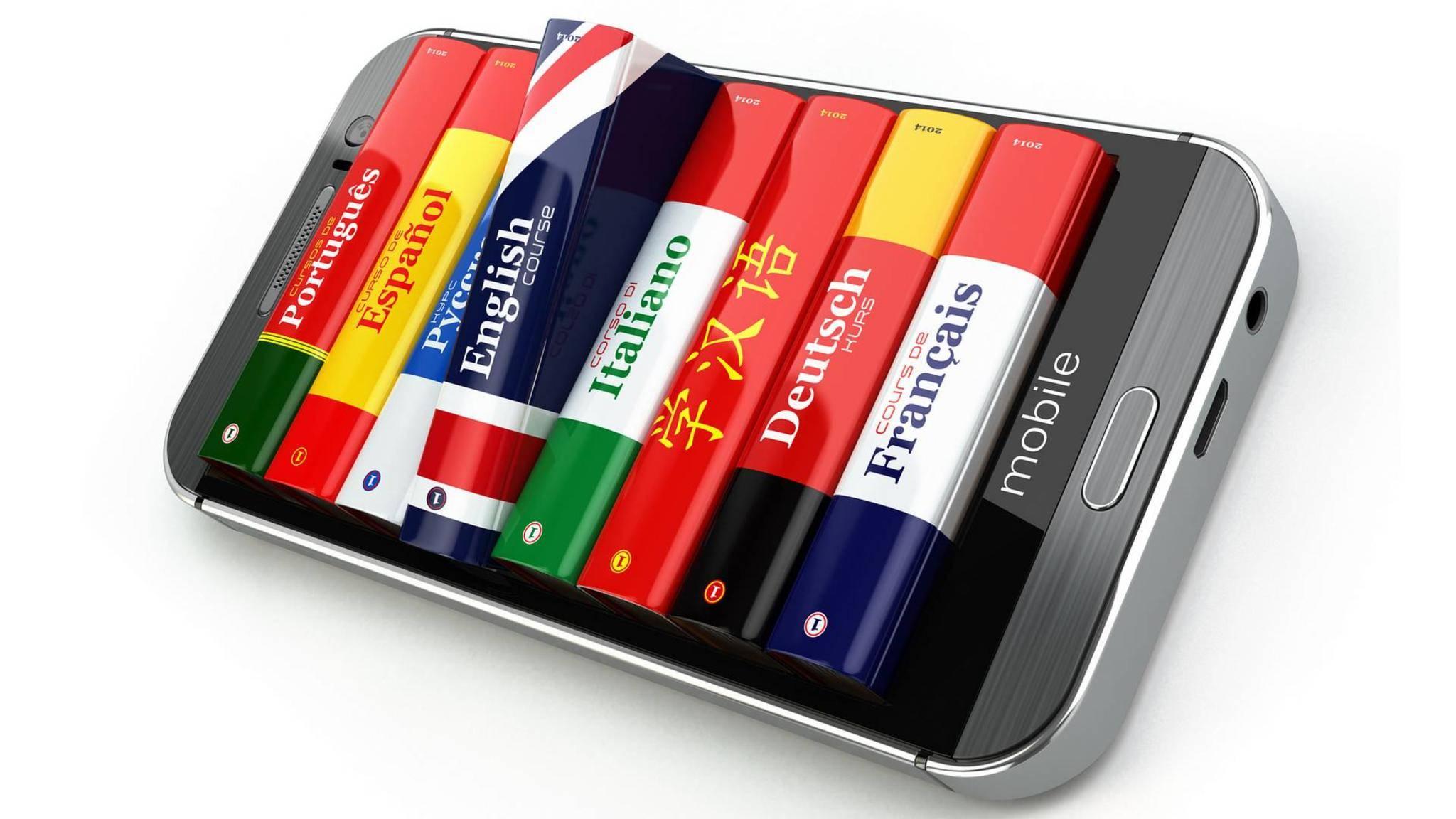 Wörterbuch-Apps eignen sich besonders für Übersetzungen.