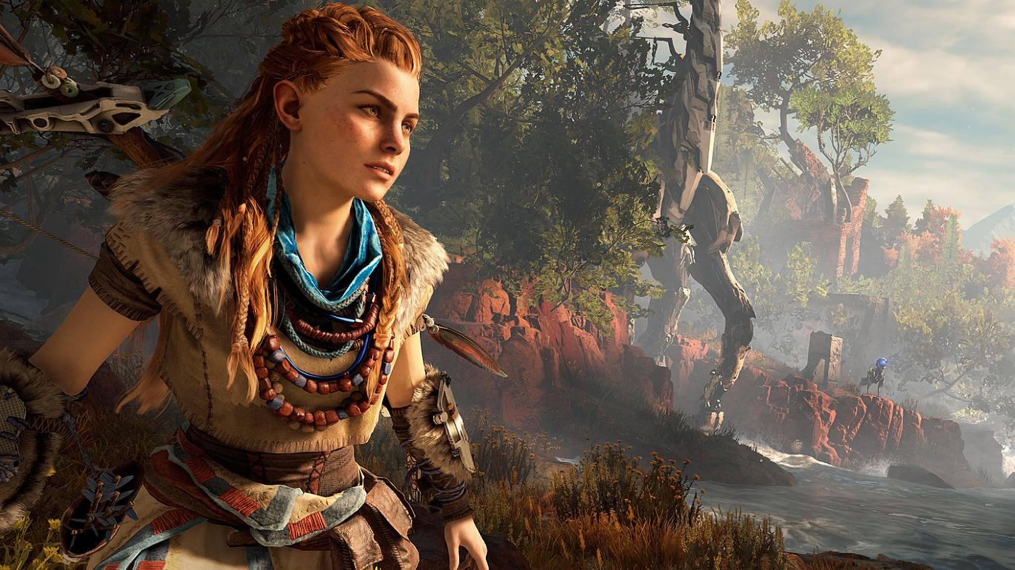 """Die Protagonistin Aloy aus """"Horizon Zero Dawn"""" könnte zu einer neuen Videospiel-Ikone werden."""