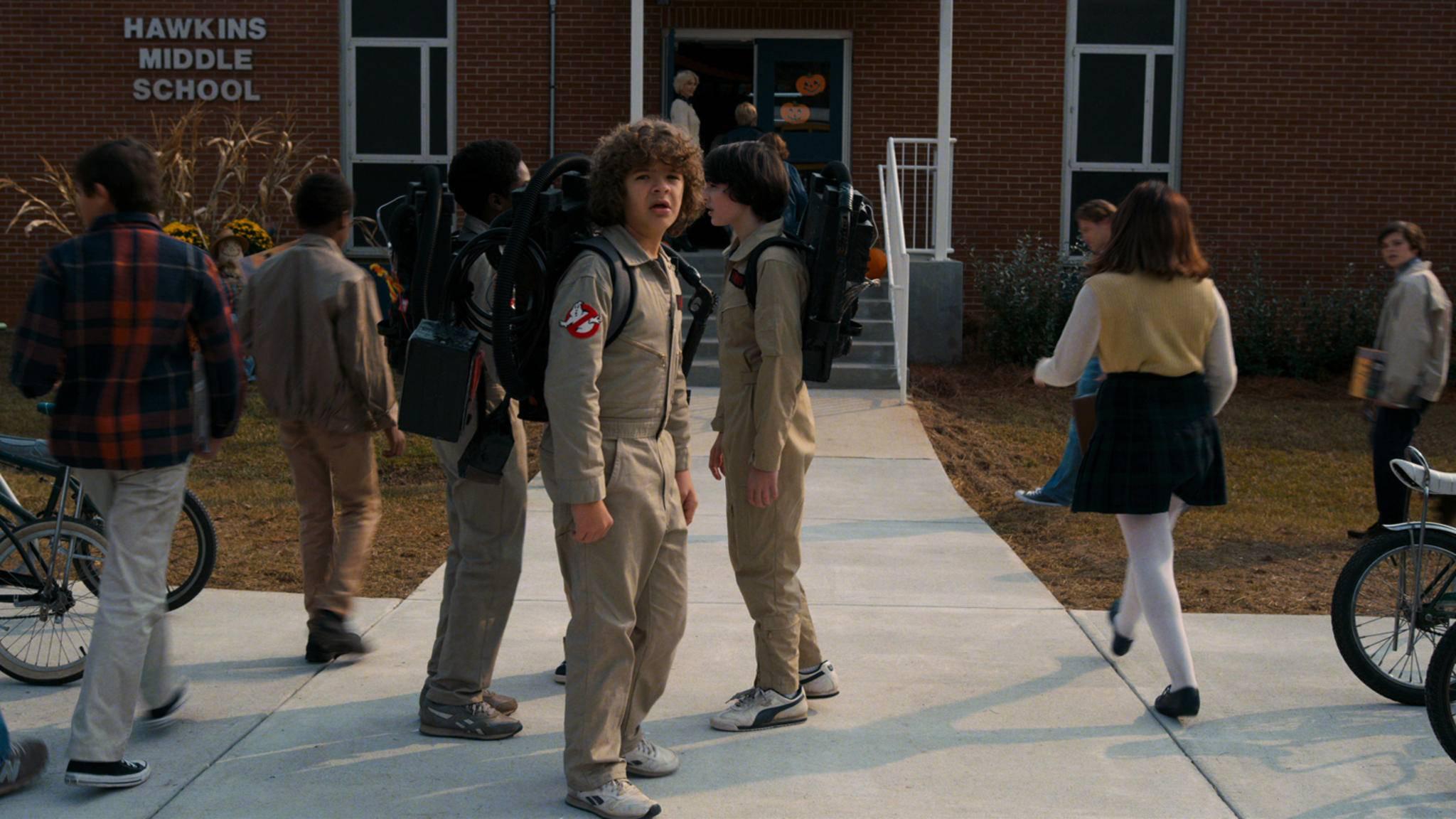 """Zu Halloween kehren die Jungs und Eleven aus """"Stranger Things"""" auf die TV-Bildschirme zurück."""