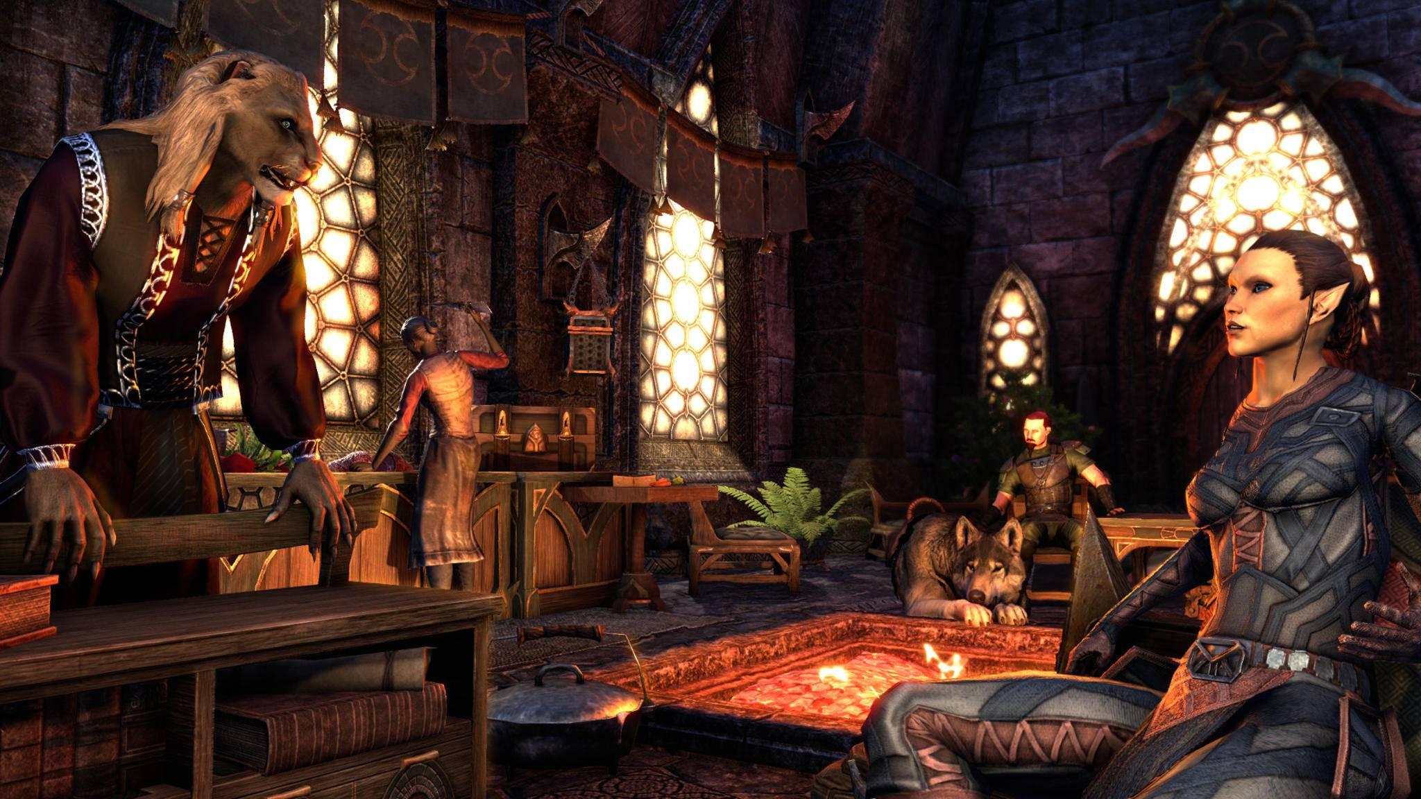 "Sogar Assistenten kann man in ""The Elder Scrolls Online"" nun ins eigene Haus bringen."