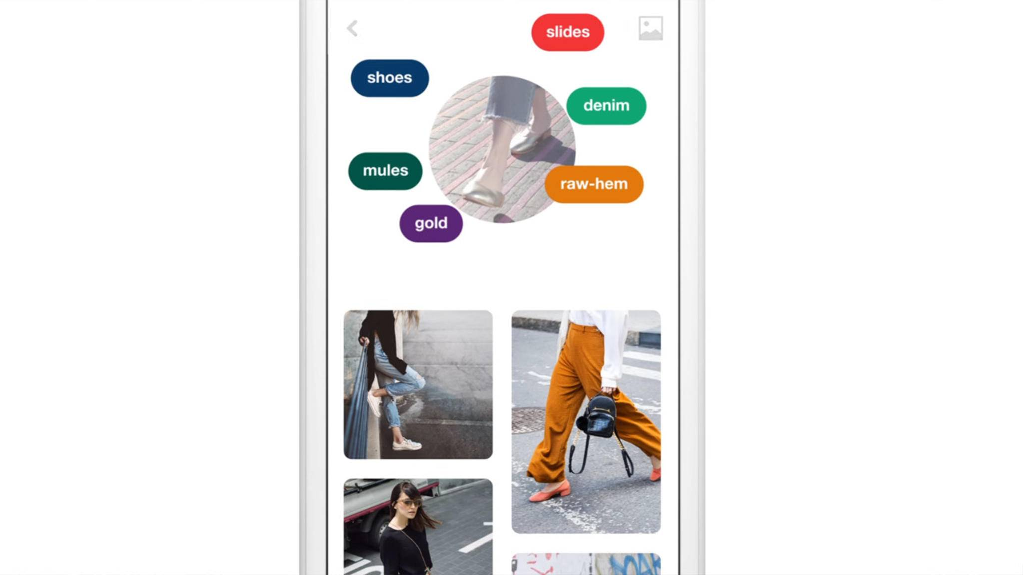 Pinterest Lens analysiert Fotos und macht ihre Bestandteile suchbar.