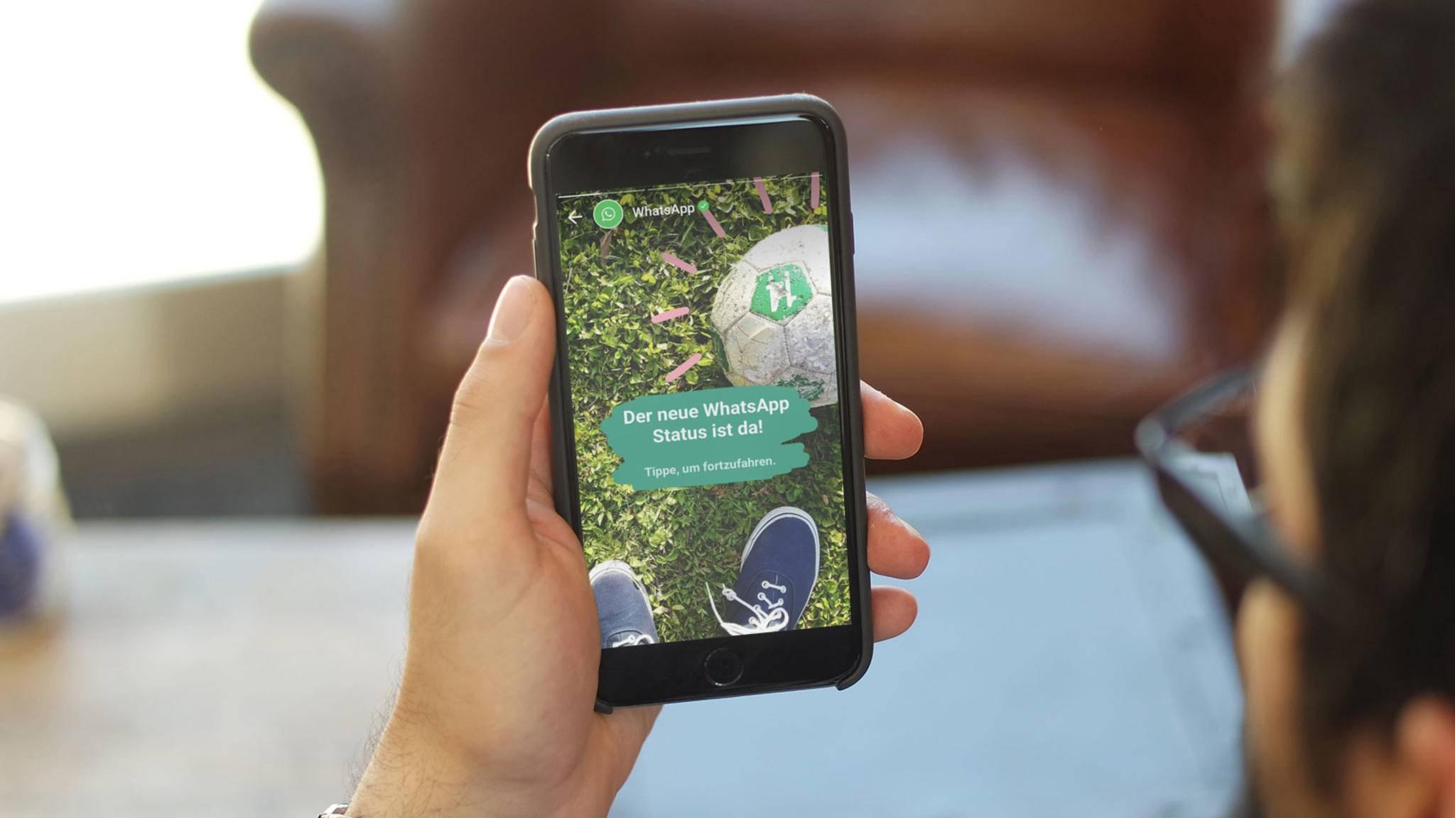 Der Status-Bereich von WhatsApp könnte in Zukunft auch für Werbung dienen.
