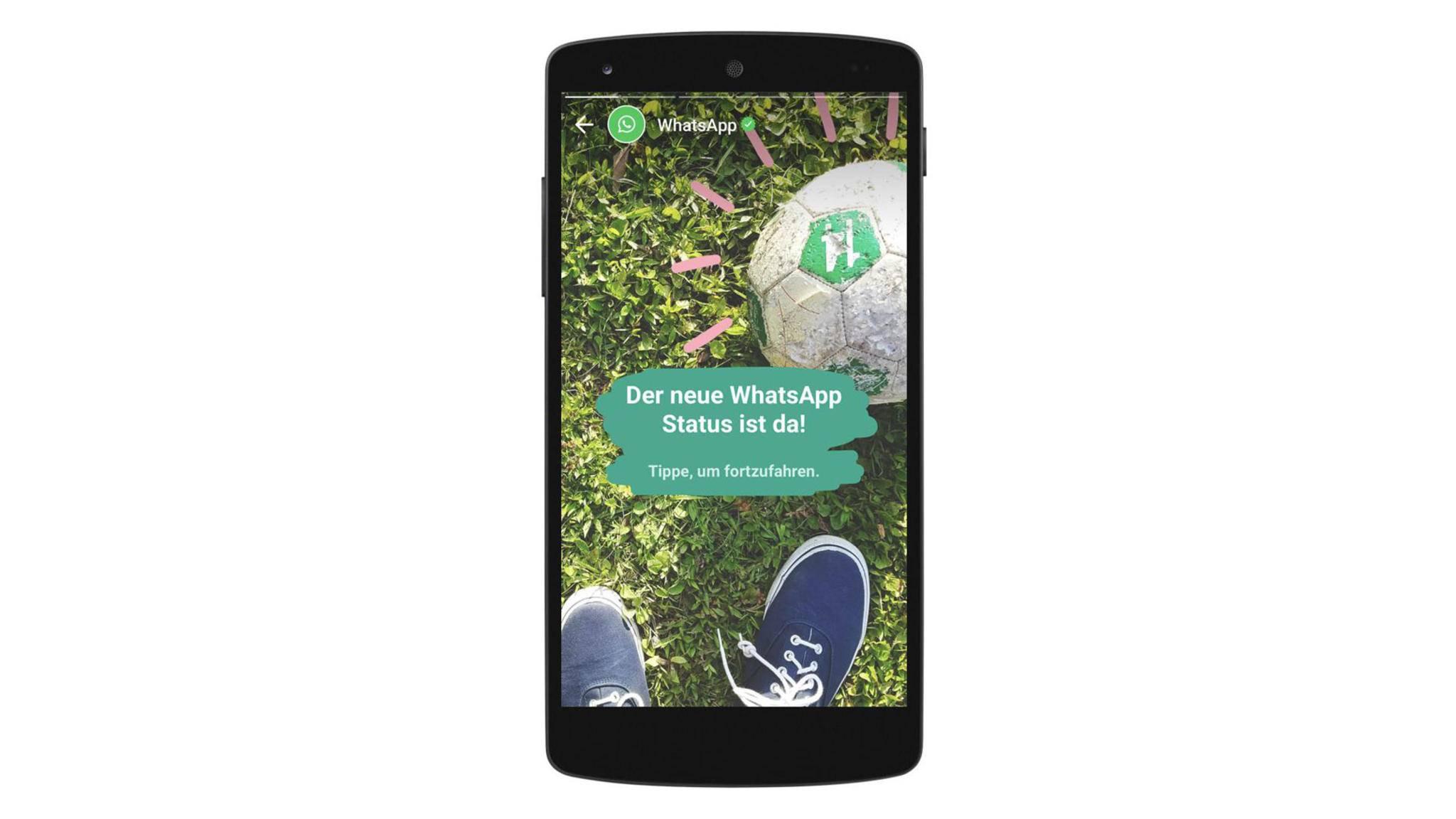 WhatsApp greift mit seiner neuen Status-Funktion den Konkurrenten Snapchat an.