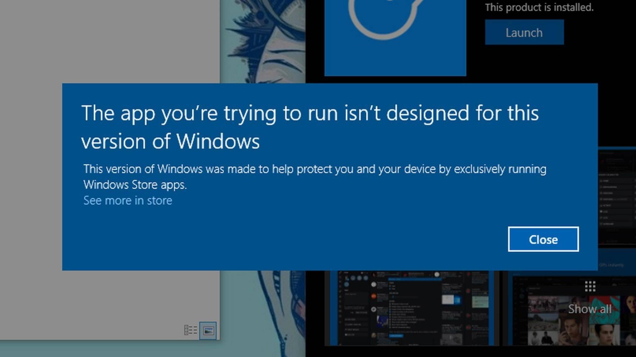 Windows 10 Cloud ist in einer geleakten Vorabversion nur mit Apps aus dem Windows Store kompatibel.