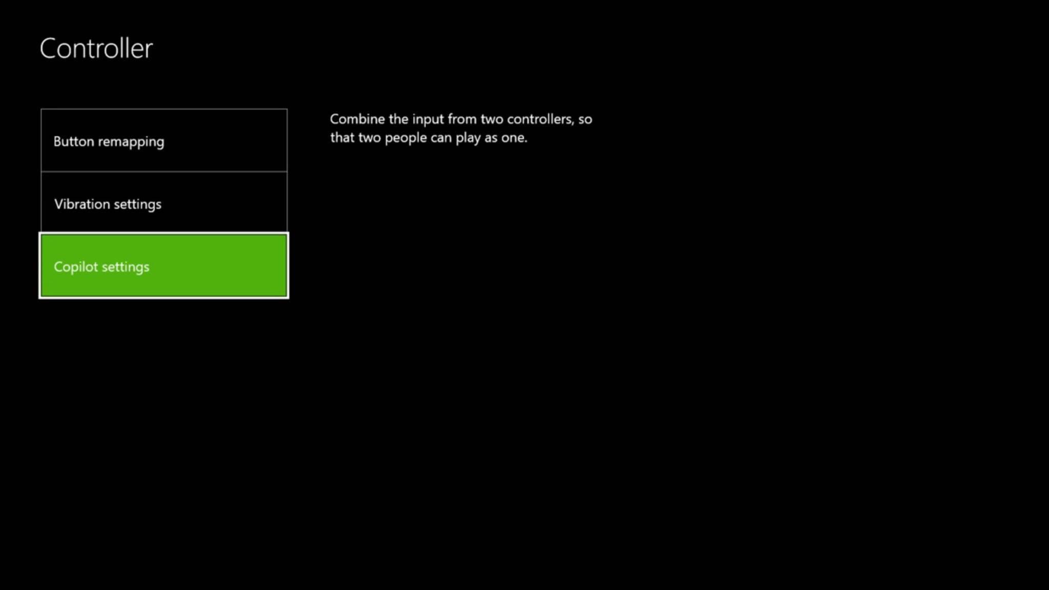 Nach der Aktivierung muss noch der zweite Controller ausgewählt werden.