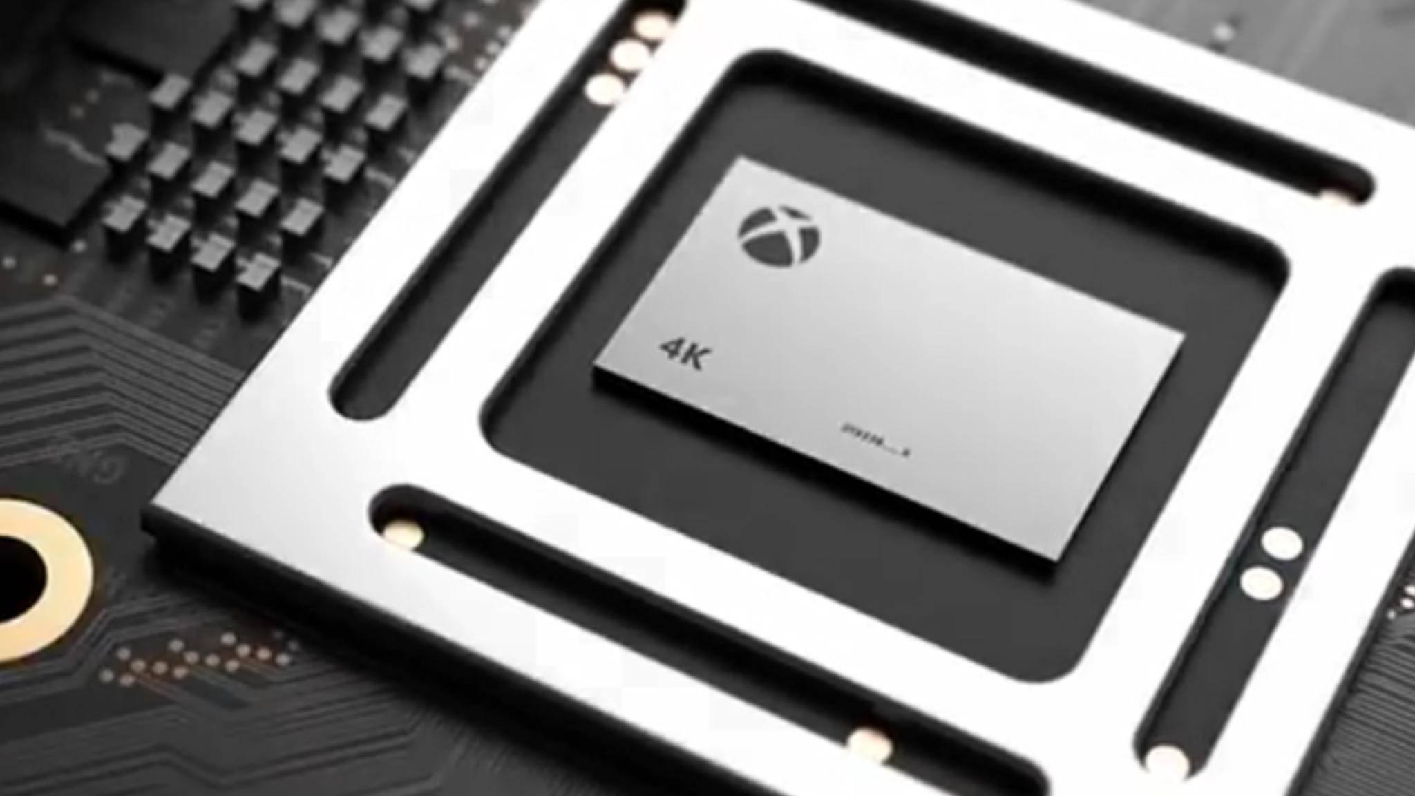 Die Xbox Scorpio hat ein eingebautes Netzteil und kann 4K.