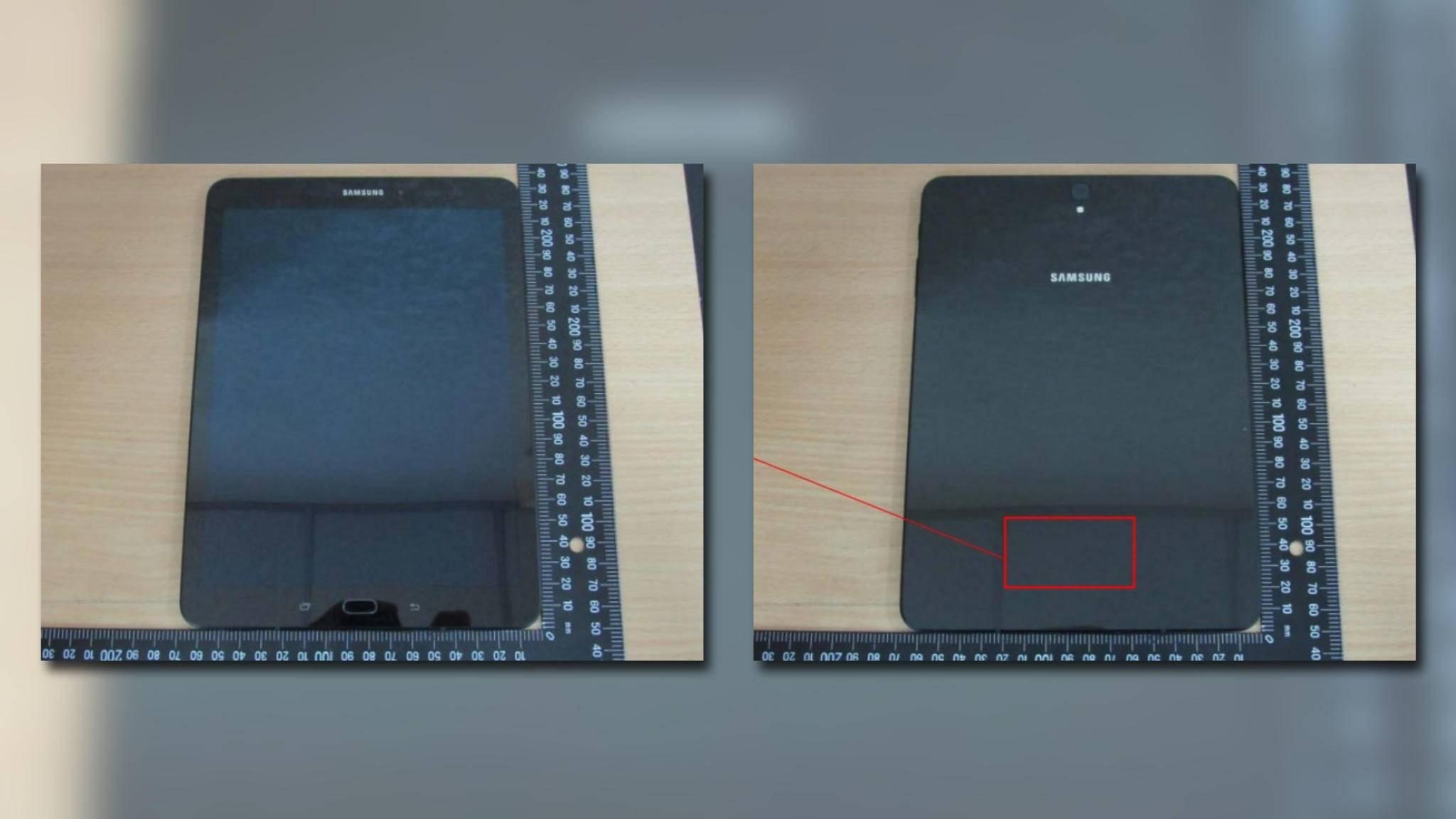 Die durchgesickerten Bilder des Galaxy Tab S3.