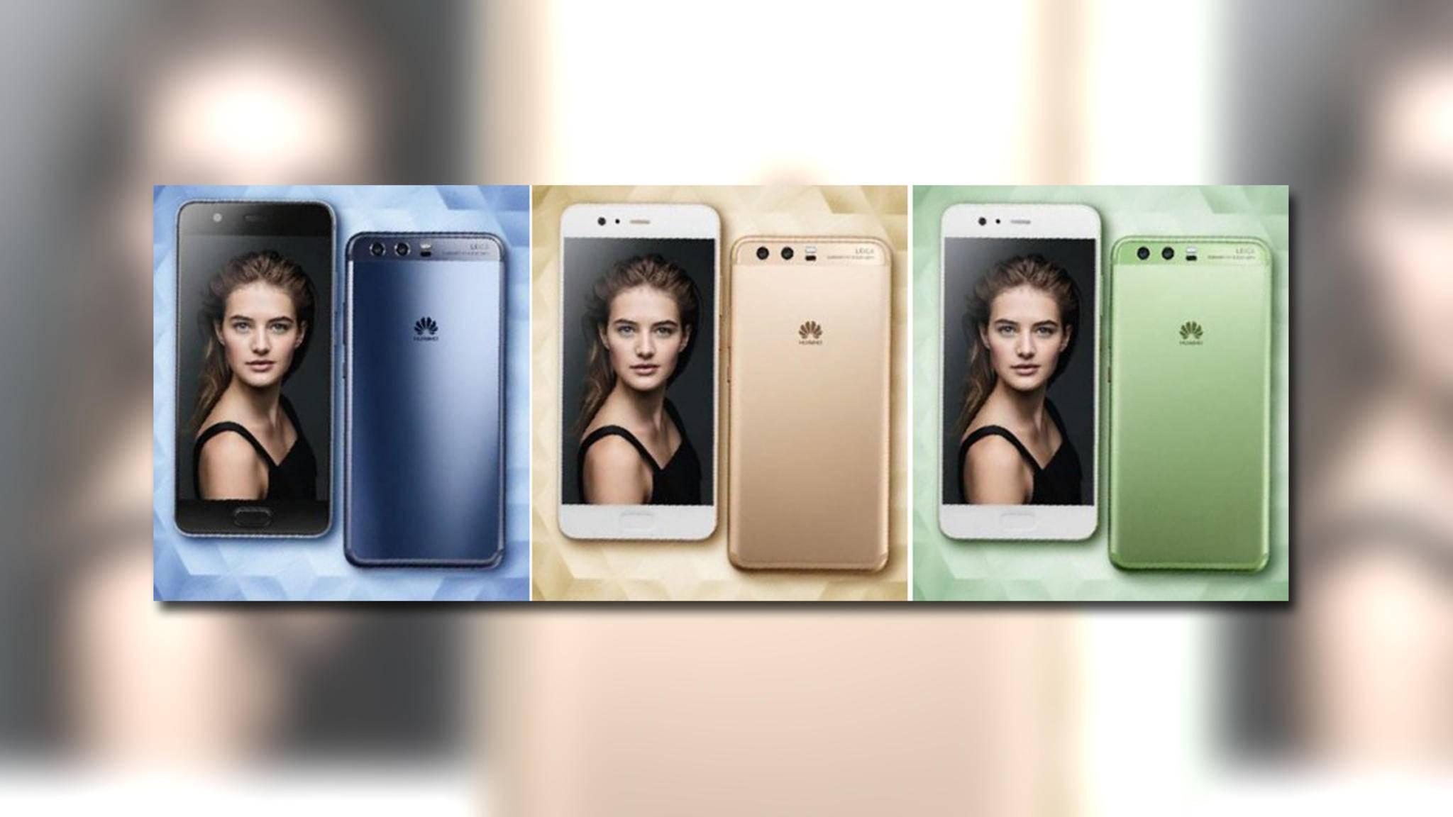 Das durchgesickerte Bild zeigt das Huawei P10 in drei Farben.