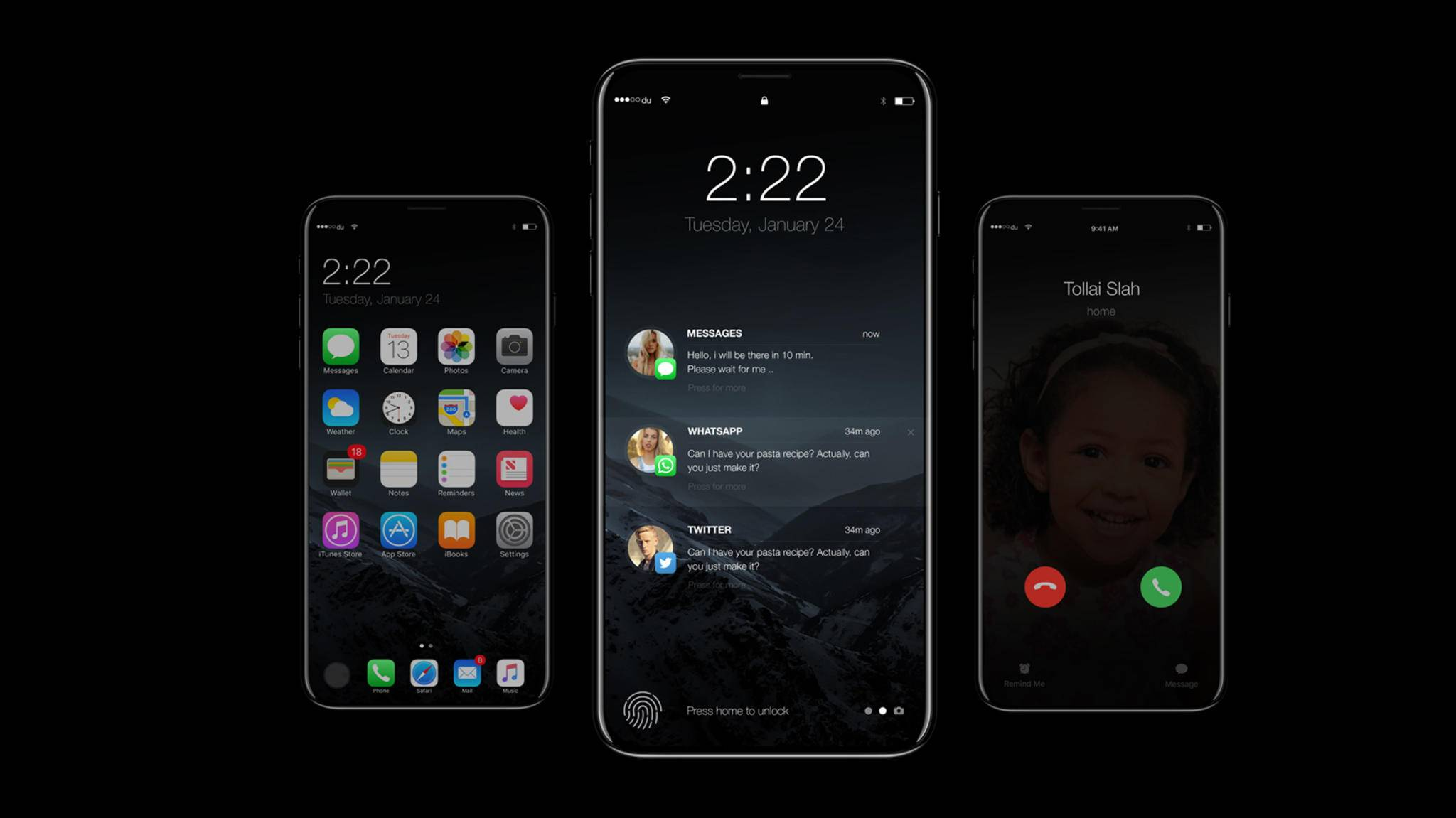 Das iPhone 8 soll mit virtuellen On-Screen-Buttons ausgestattet sein.