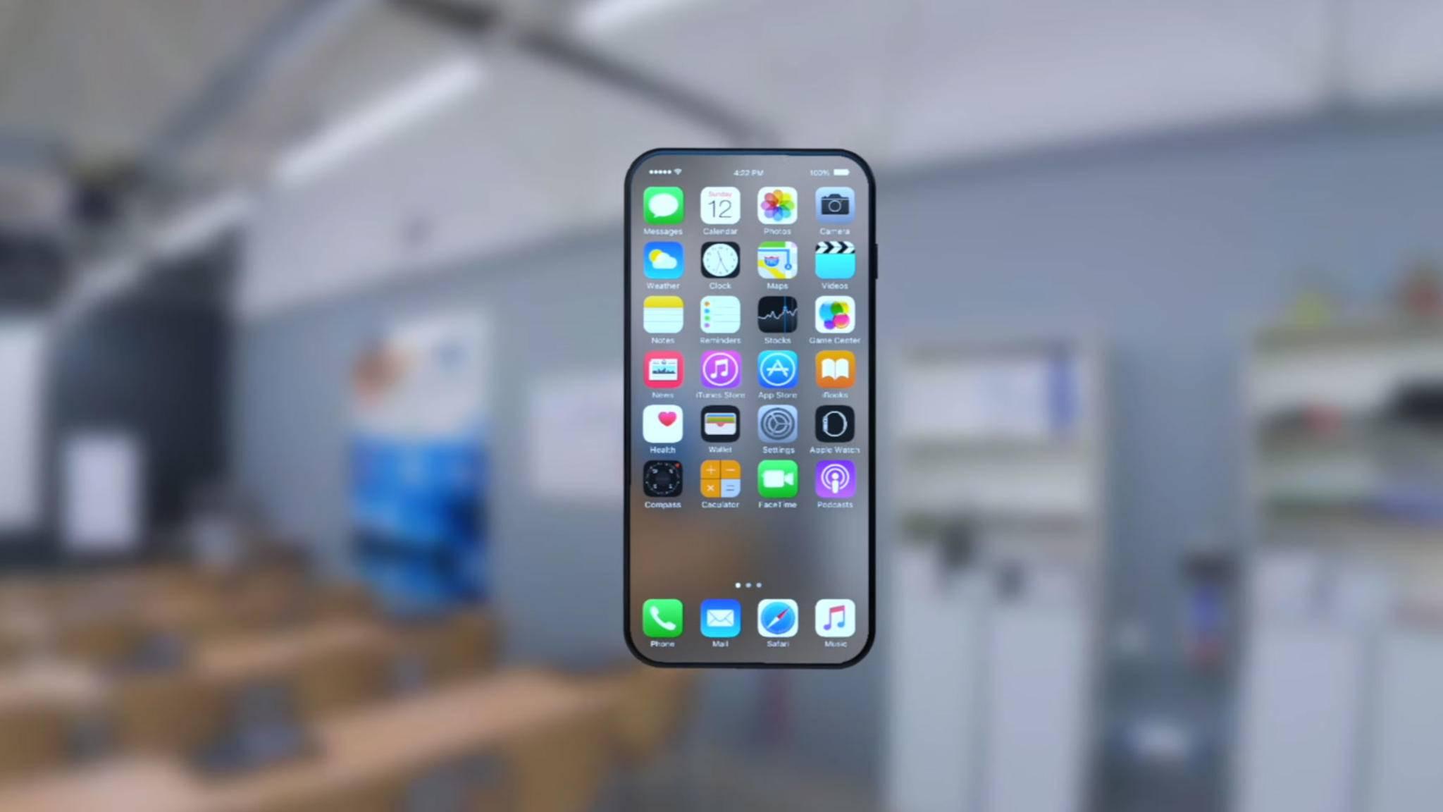 Ob das iPhone 8 tatsächlich einen nahezu randlosen Screen haben wird, bleibt noch abzuwarten.
