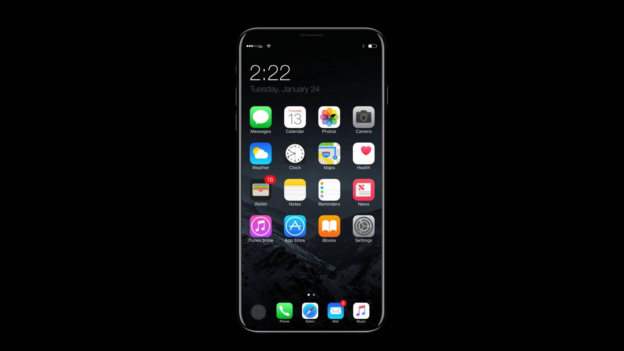 Das iPhone 8 soll fast ohne Display-Ränder auskommen.