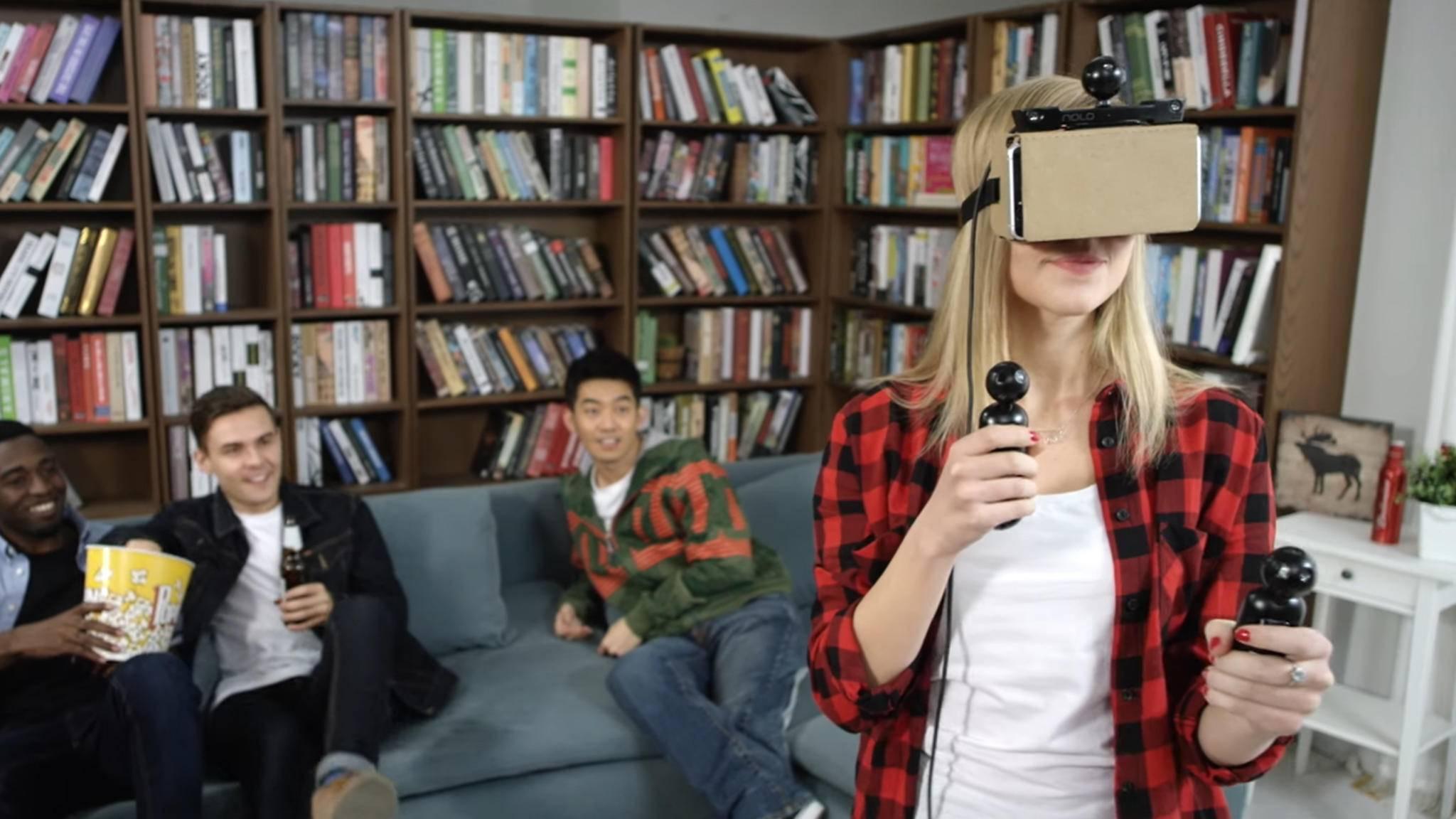 Mit NOLO VR kann man Virtual Reality-Spiele erleben.