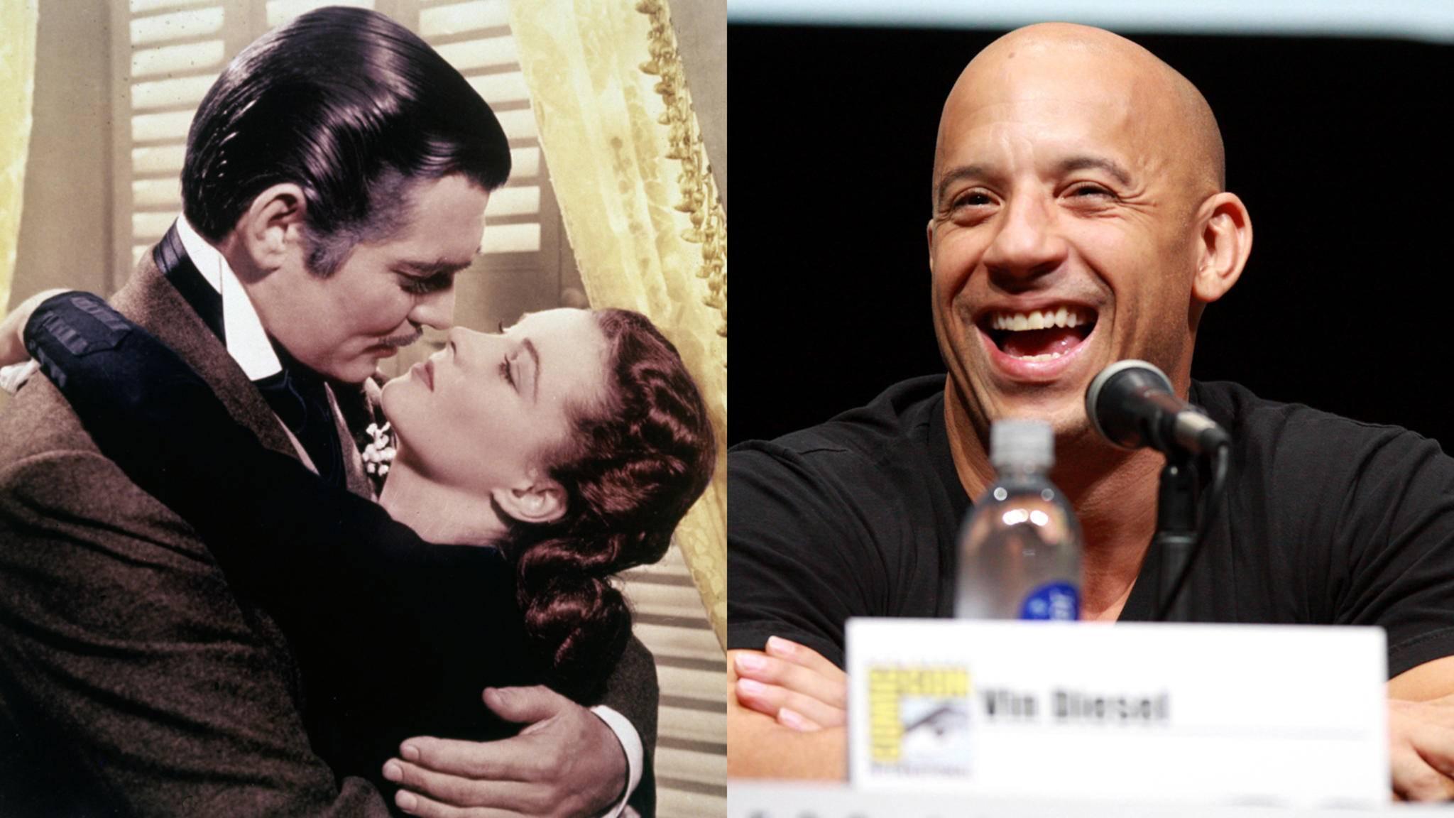 """Überraschung: Der Lieblingsfilm von Vin Diesel ist ein echter Herzschmerzklassiker: """"Vom Winde verweht""""."""