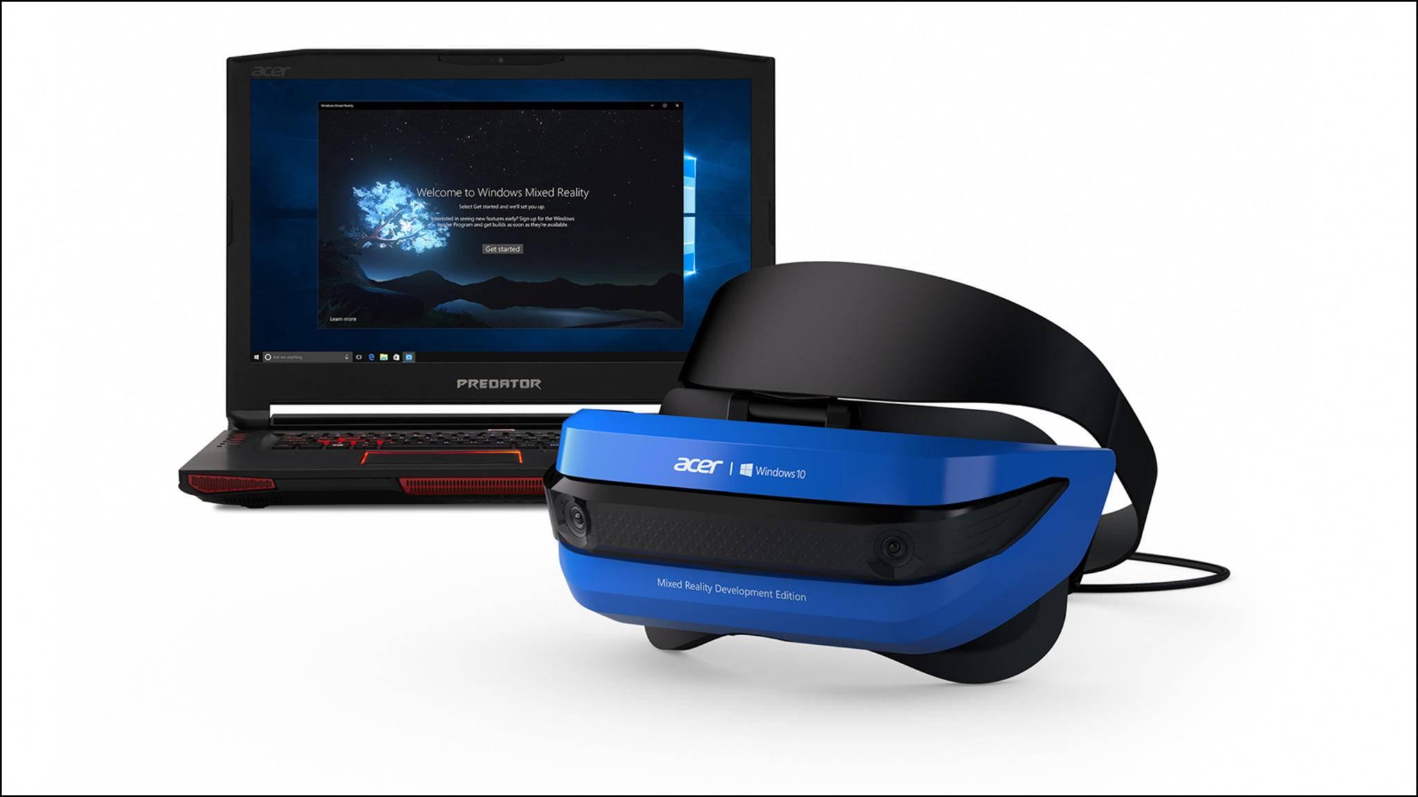 Acer bringt eine Mixed-Reality-Brille heraus, die 2018 als Verkaufsmodell erscheinen soll.
