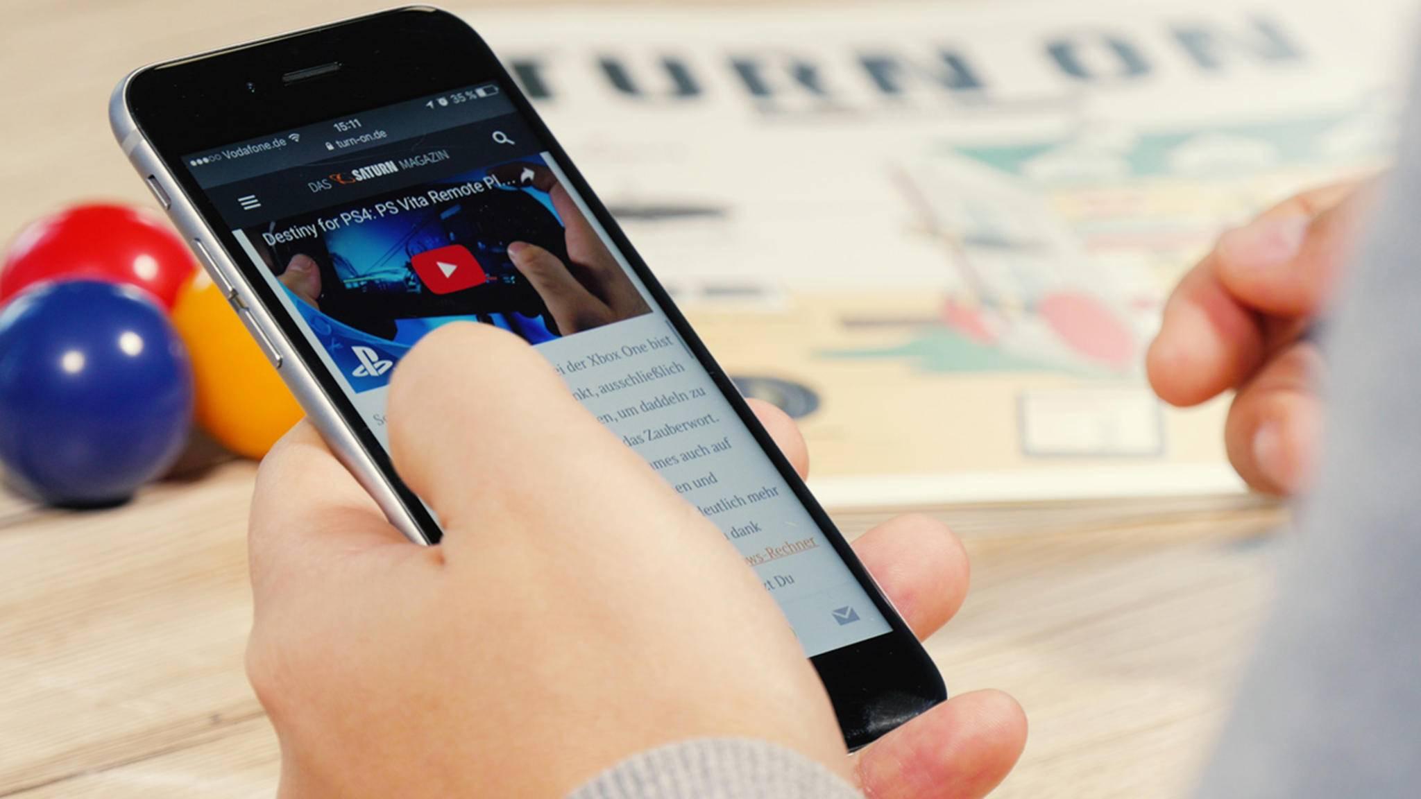 Nicht immer passen sich Webseiten so gut an das Smartphone an wie in diesem Beispiel.