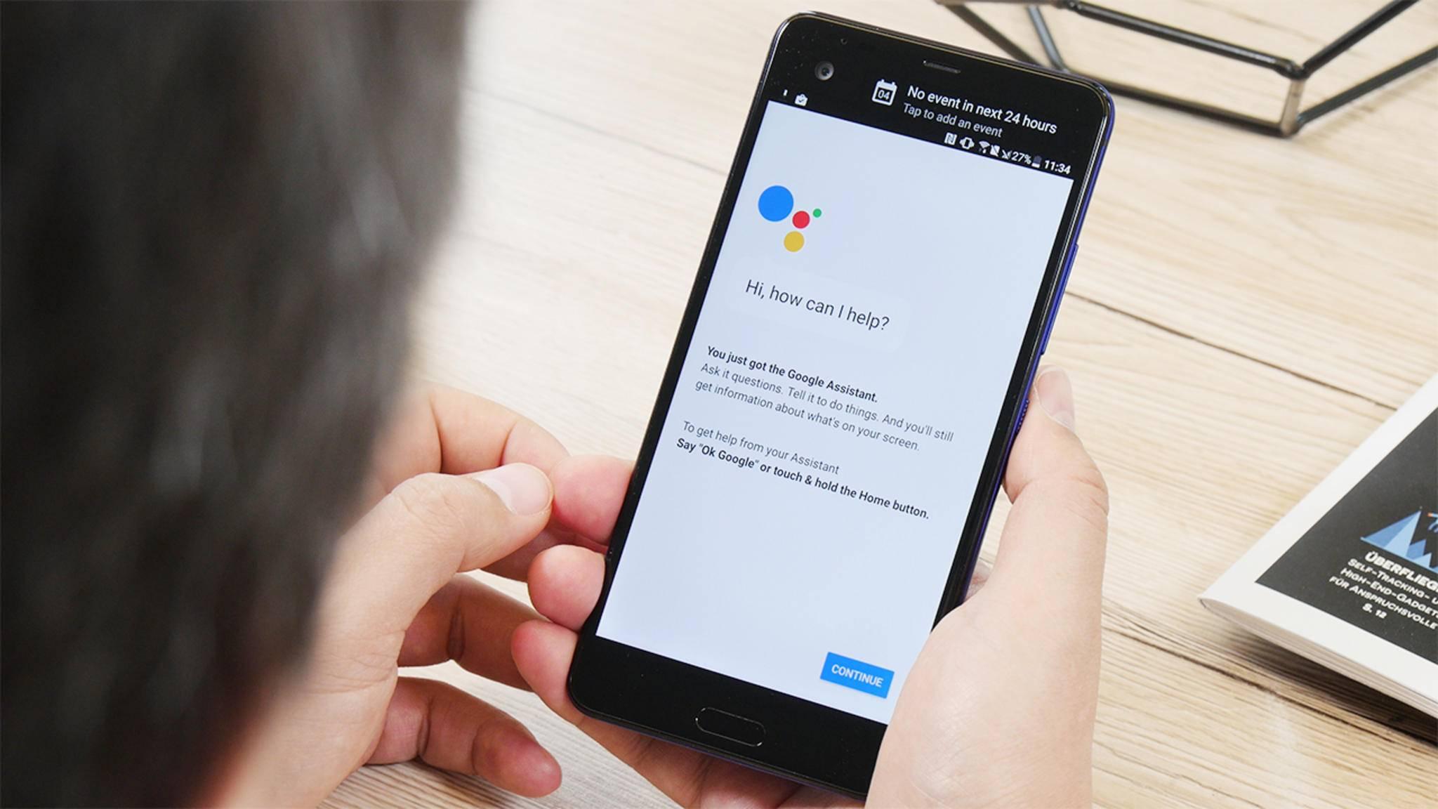 """Der Google Assistant auf dem Android-Phone reagiert in Zukunft auch auf """"Hey Google""""."""