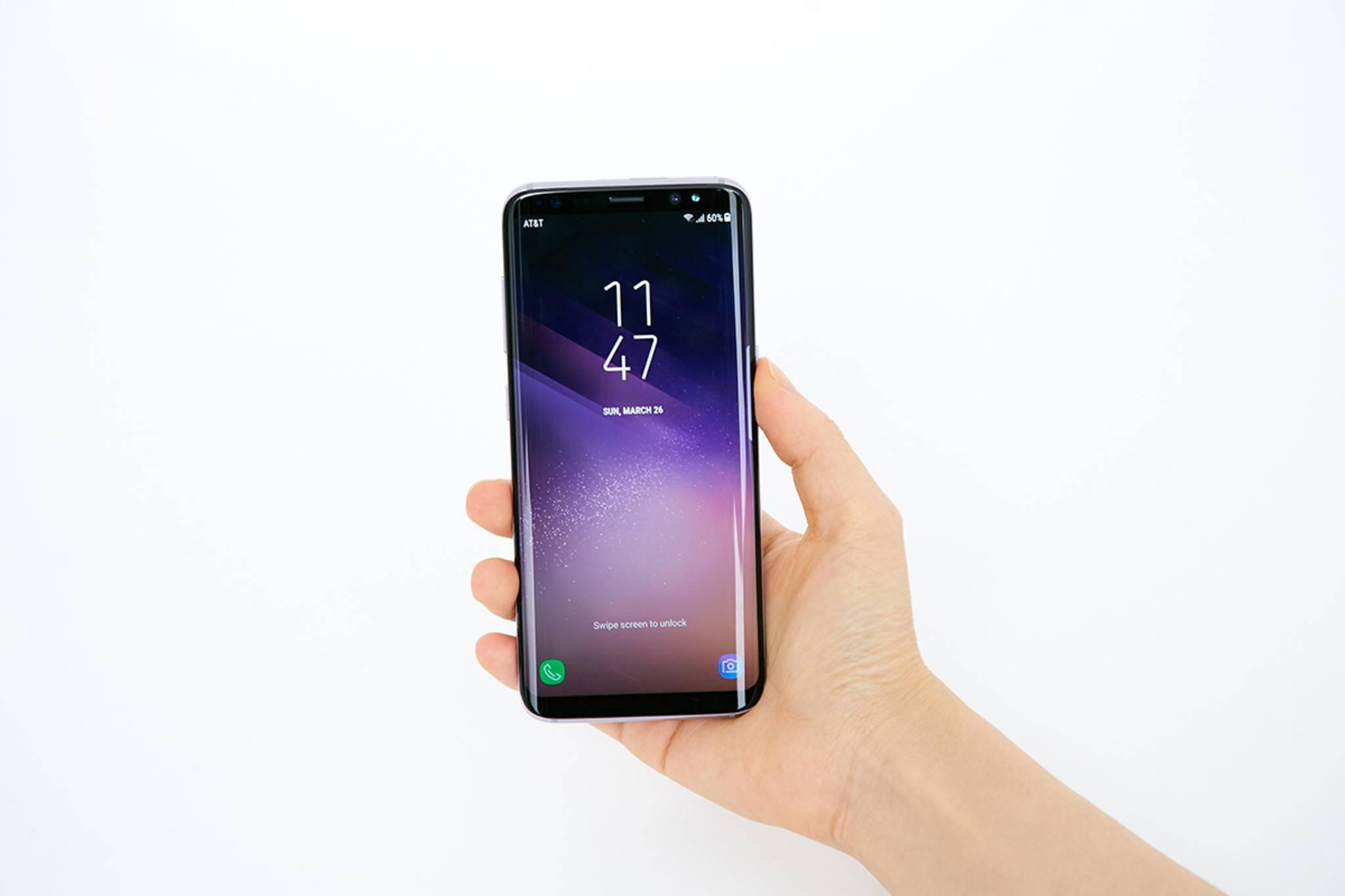 Das Galaxy S8 hat ein fast randloses Display – da muss das iPhone 8 erst einmal herankommen.