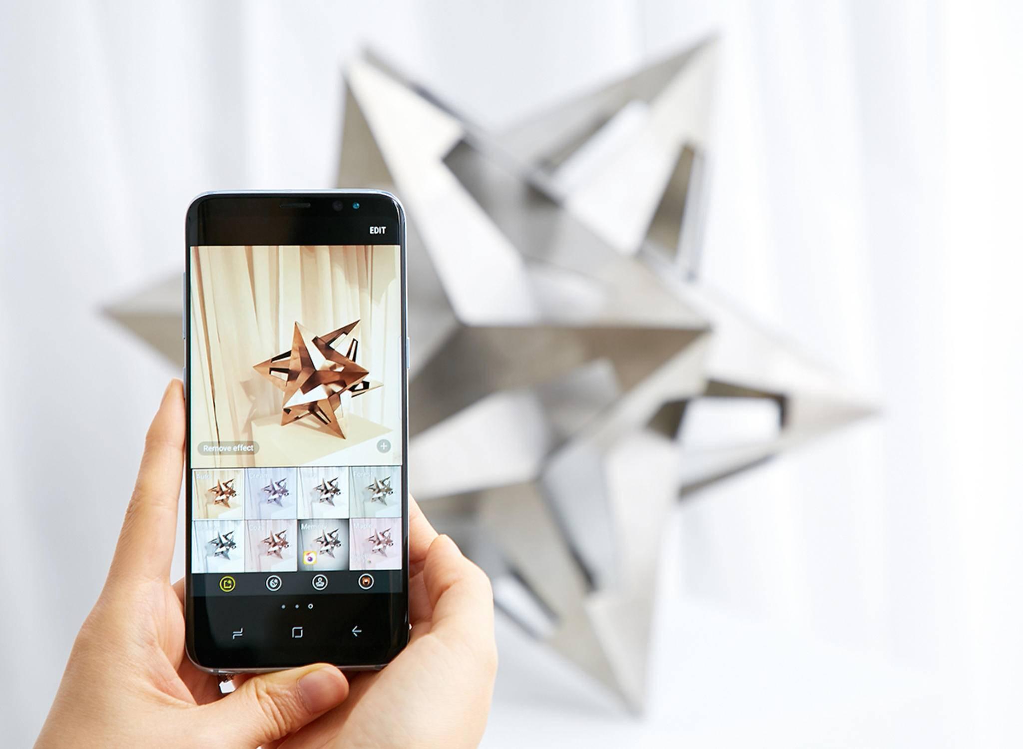 Das Galaxy S8 hat nur eine gewöhnliche 12-MP-Kamera.