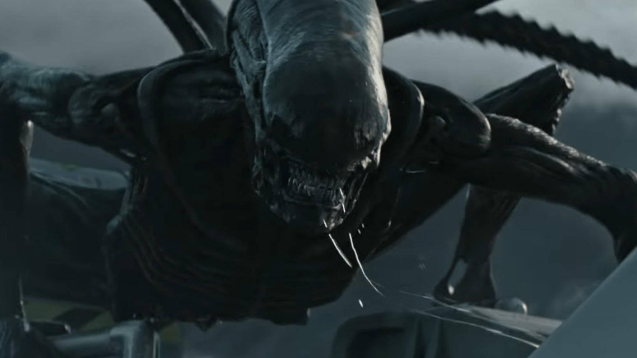 """Ein echter Sturkopf: Der ausgewachsene Xenomorph im """"Alien: Covenant""""-Trailer."""