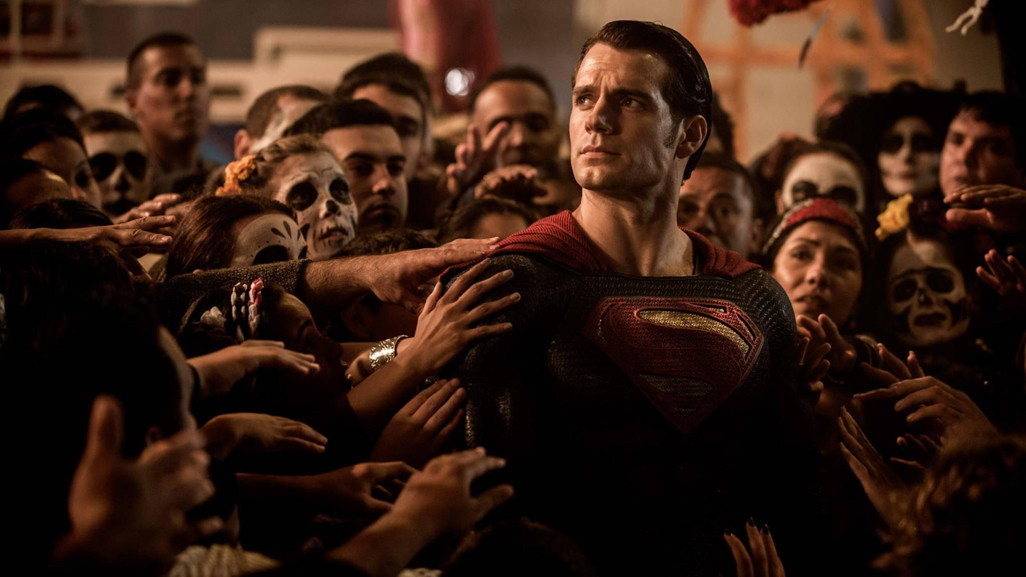 """Superman im Anflug: Ein neues Banner zu """"Justice League"""" lässt Kal-El in altem Glanz auferstehen."""