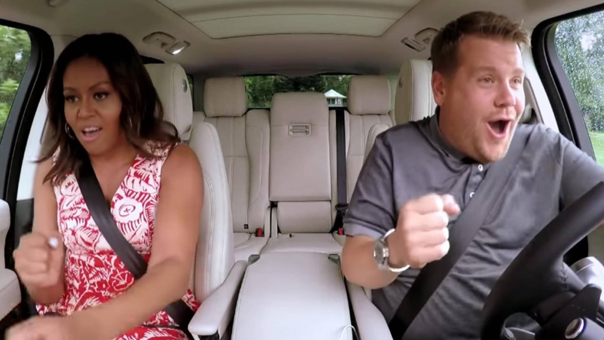 """Michelle Obama rockte und rappte mit James Corden in einer der beliebtesten """"Carpool Karaoke""""-Folgen."""