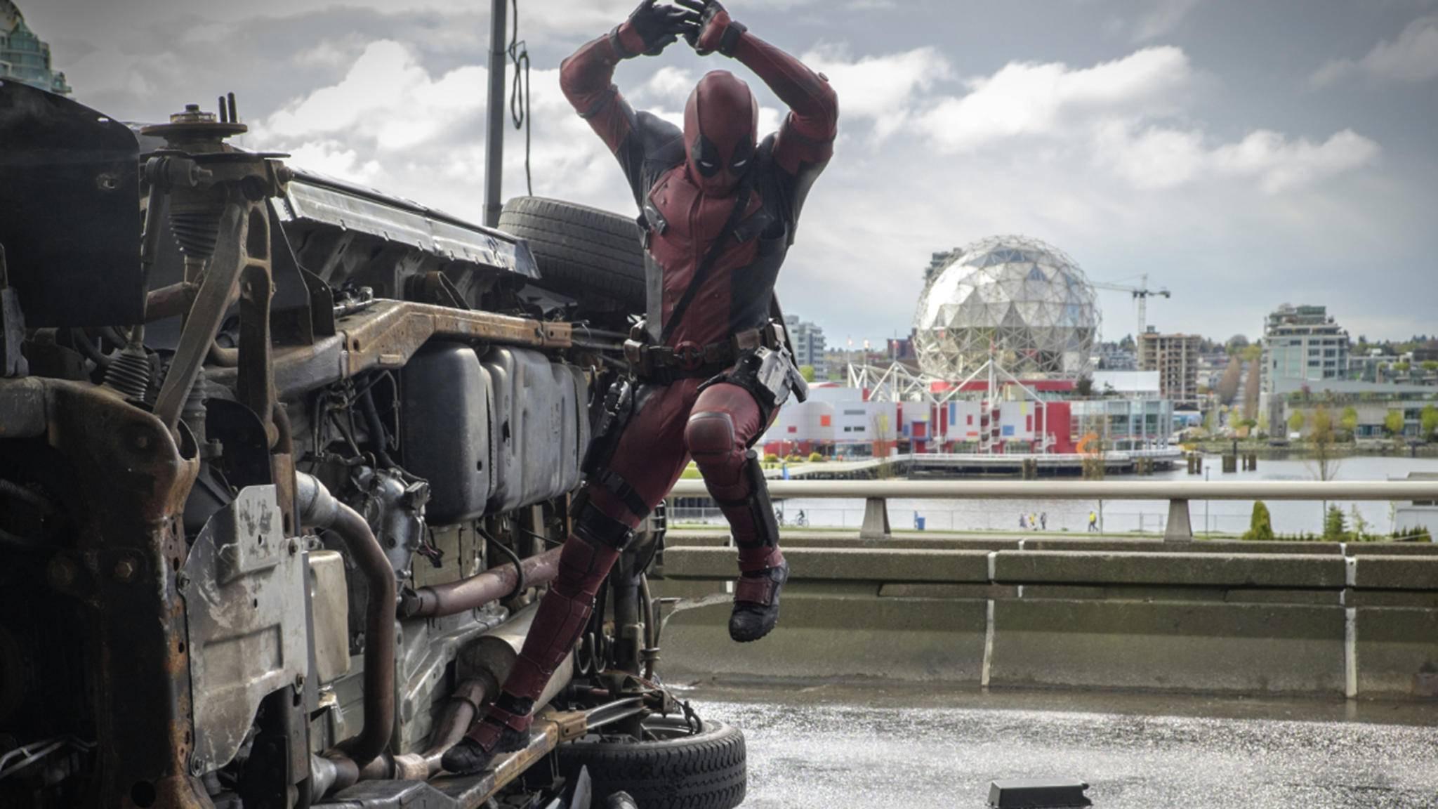 """Solche Sprünge darf Ryan Reynolds in """"Deadpool 2"""" nicht mehr machen."""