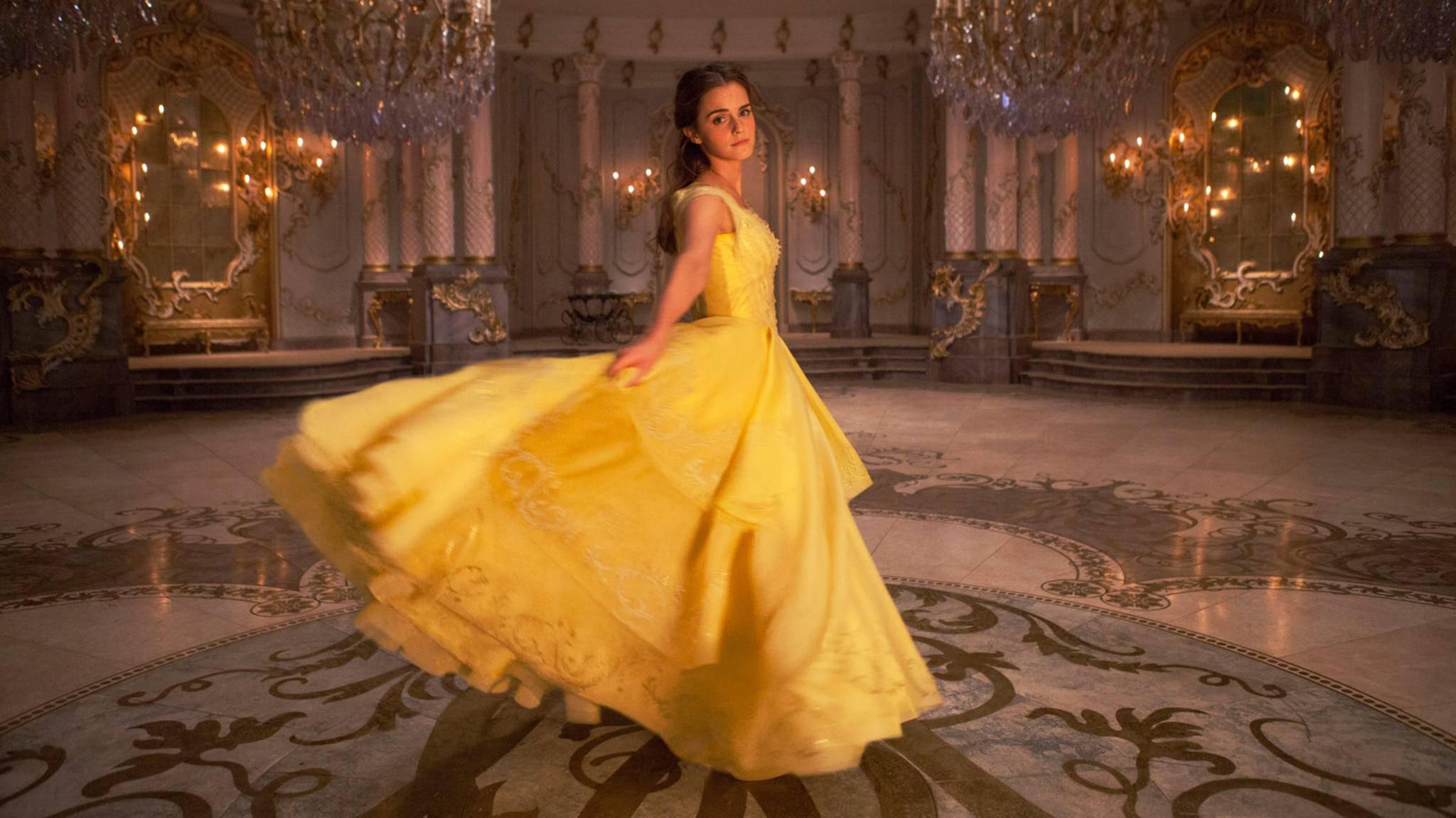 """Emma Watson (hier als Belle in Disneys """"Die Schöne und das Biest"""") kann trotz ihres jungen Alters bereits Einspielergebnisse in Höhe von mehreren Milliarden US-Dollar vorweisen."""