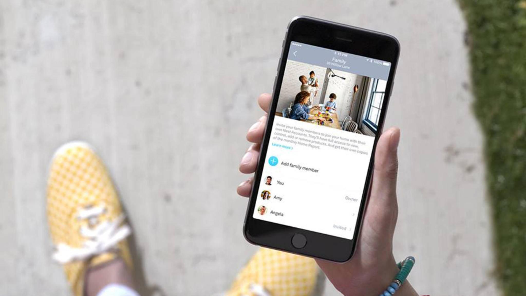Die Zwei-Faktor-Authentifizierung bei der Anmeldung in der App soll Nest-Geräte vor Hackerangriffen schützen.