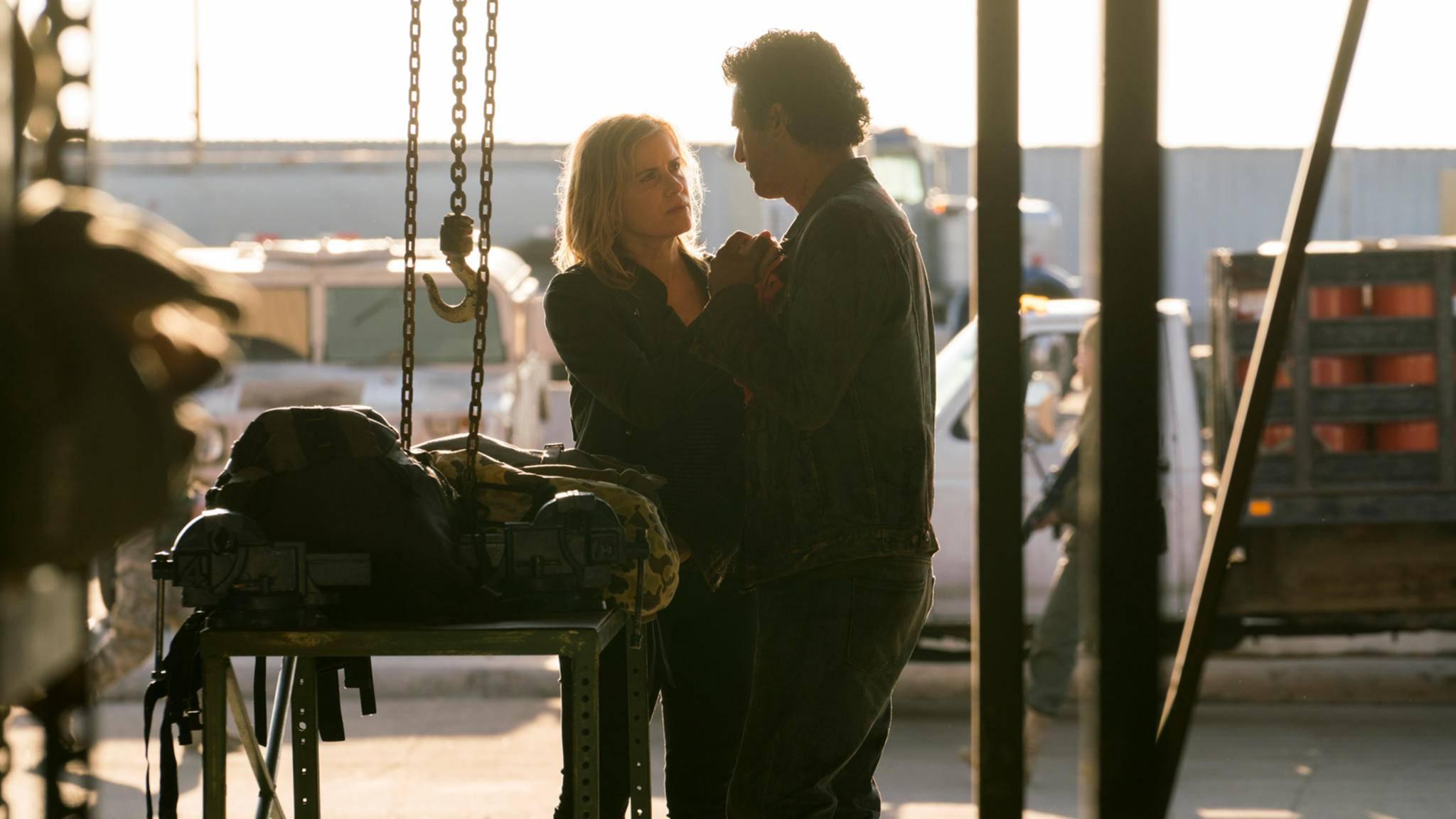 Haben wieder zueinander gefunden: Madison (Kim Dickens) und Travis (Cliff Curtis).