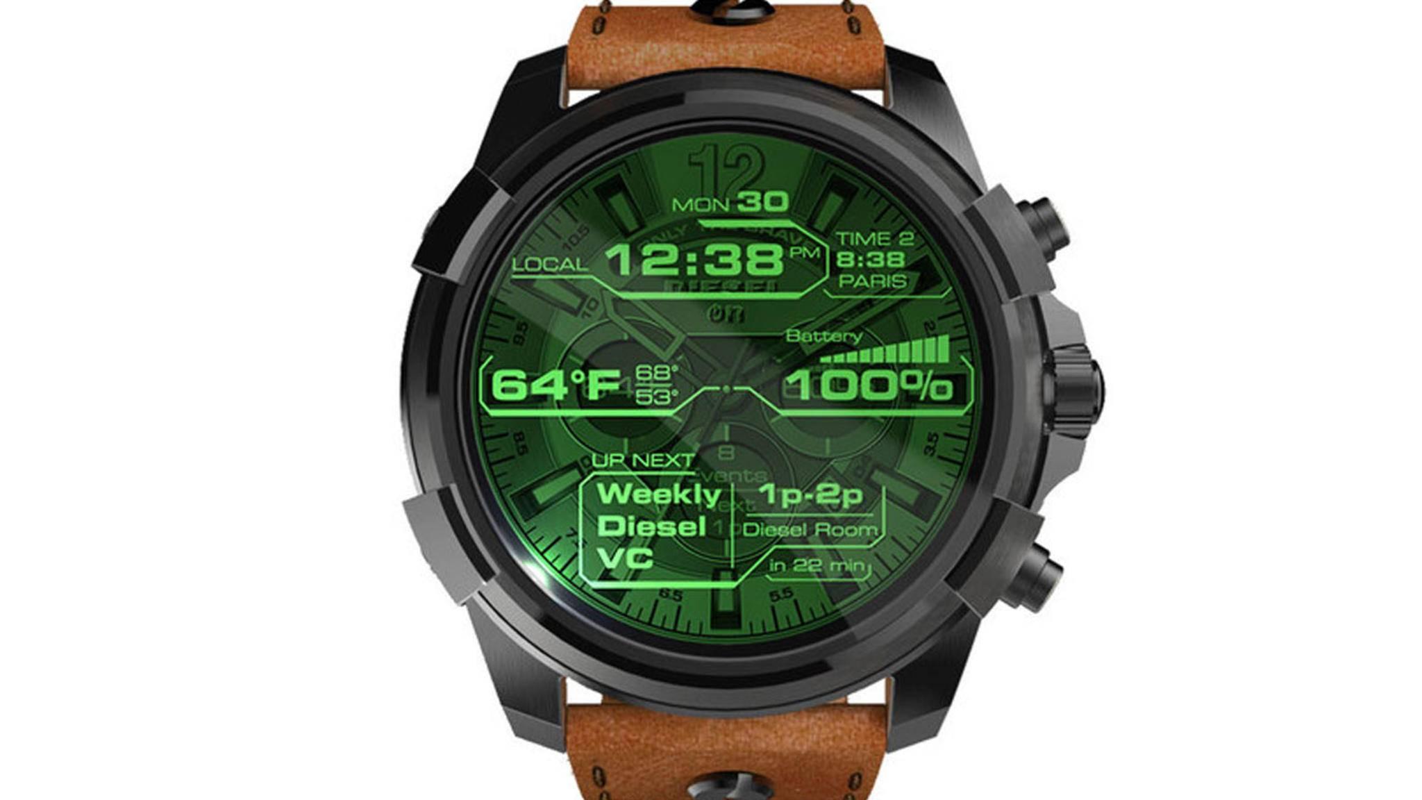 Die Diesel On wird nur eine von zahlreichen neuen Android Wear 2.0-Smartwatches sein, die Fossil in diesem Jahr auf den Markt bringt.