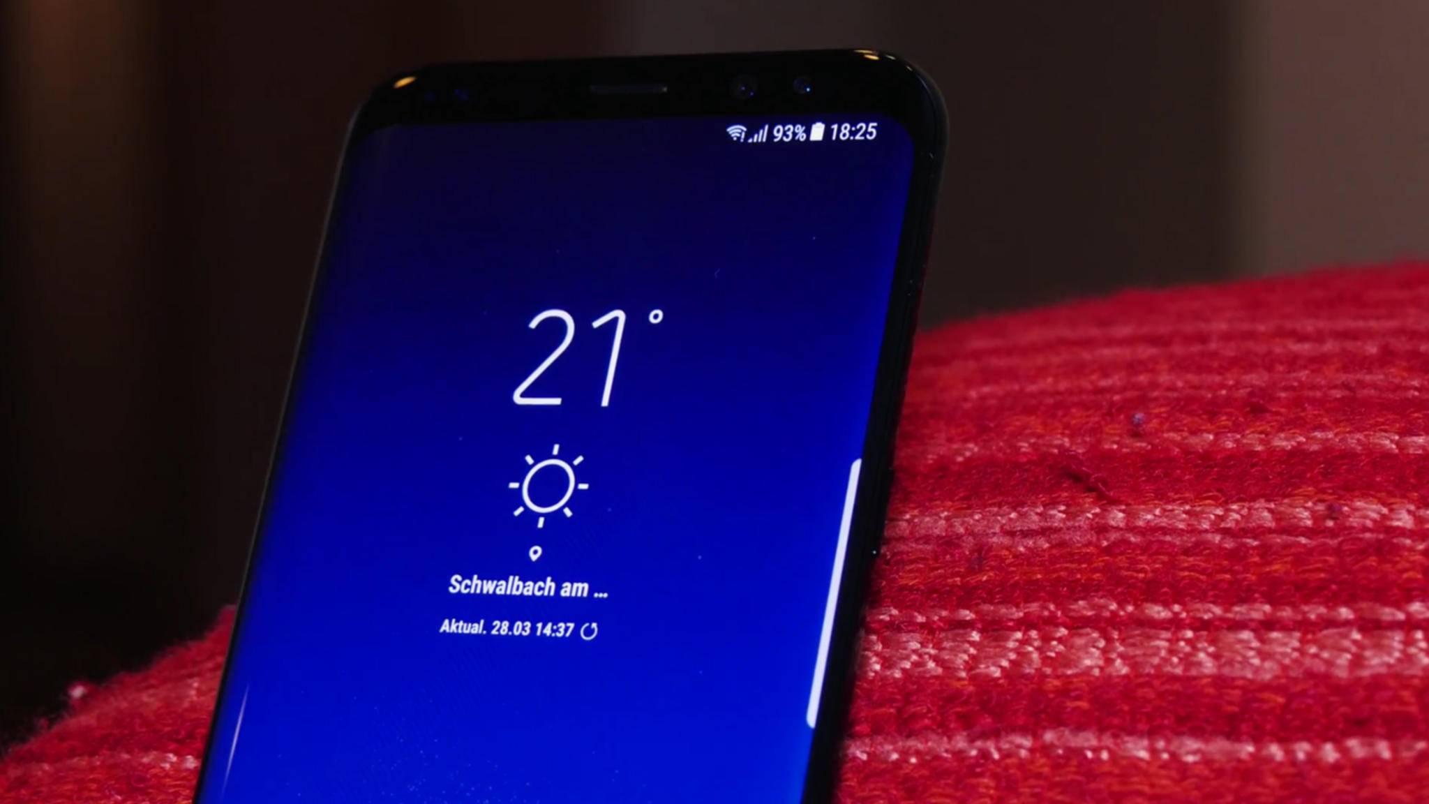 Der Akku im Galaxy S8 ist genauso groß wie beim Vorgänger – und das bei einem größeren Screen.