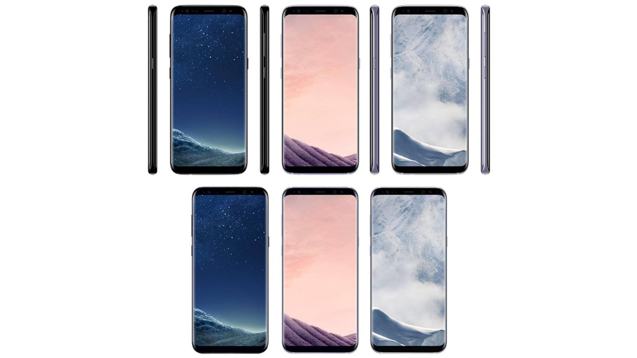 Viele bunte Galaxys: In diesen Farben soll das S8 erscheinen.