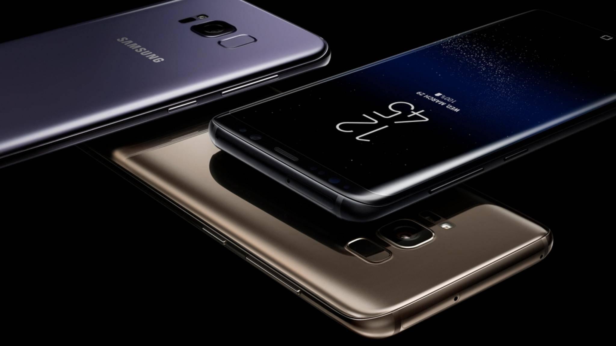 Das Galaxy S8 hat ein nahezu randloses Display.