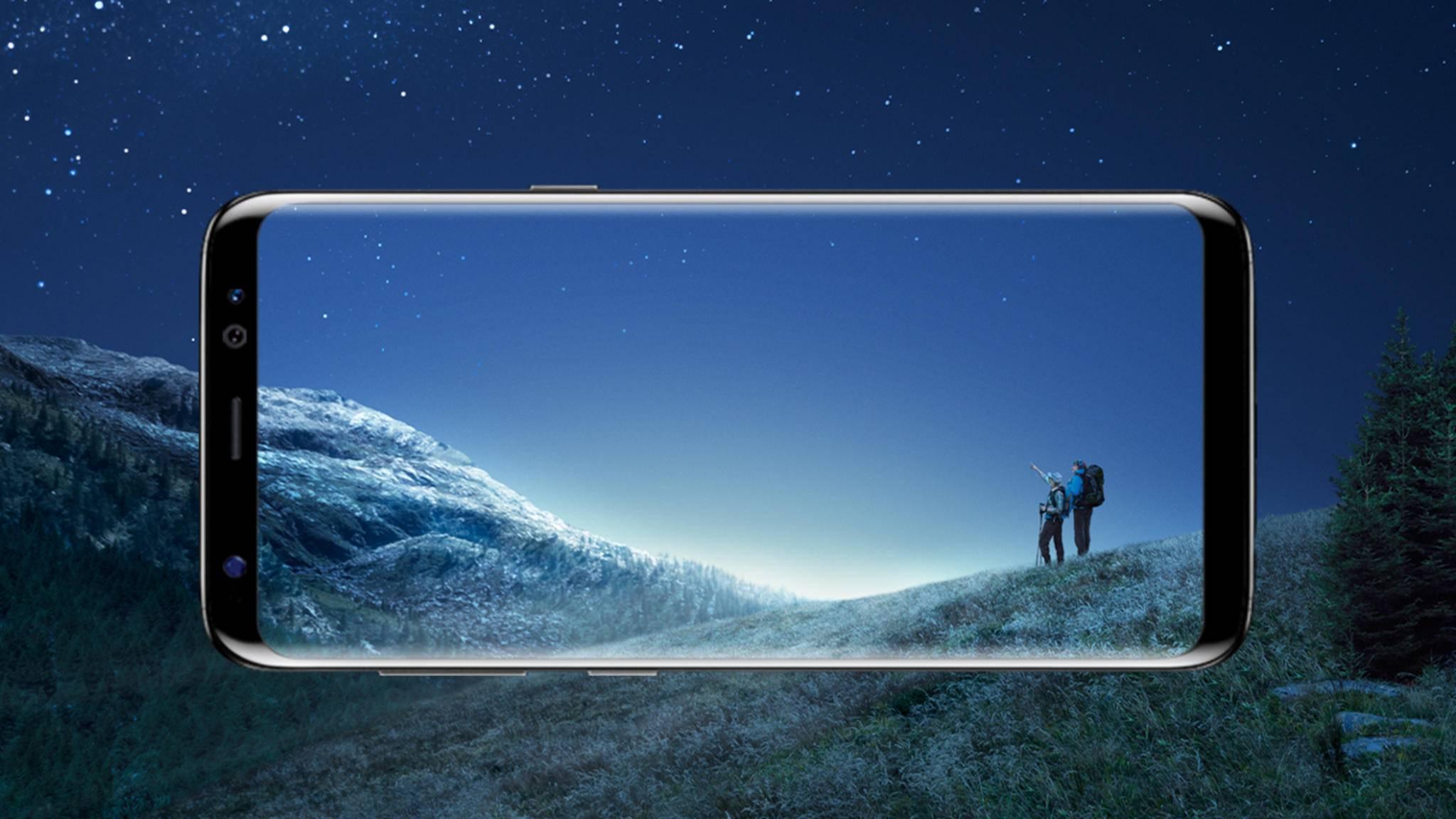 Der Screen des Galaxy S8 ist toll, bietet aber leider kein 4K.