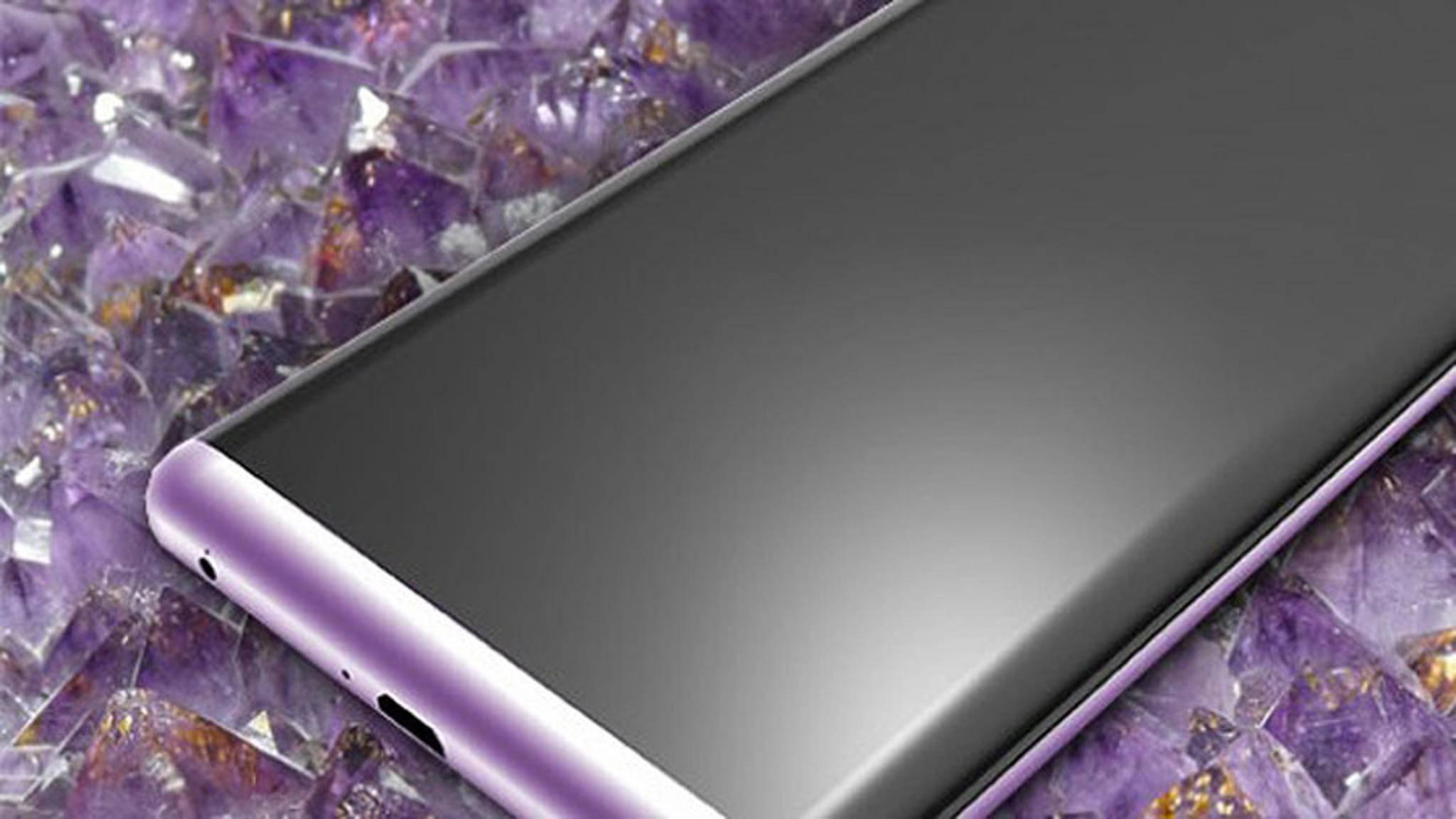 So könnte ein Galaxy S8 in Amethyst aussehen.