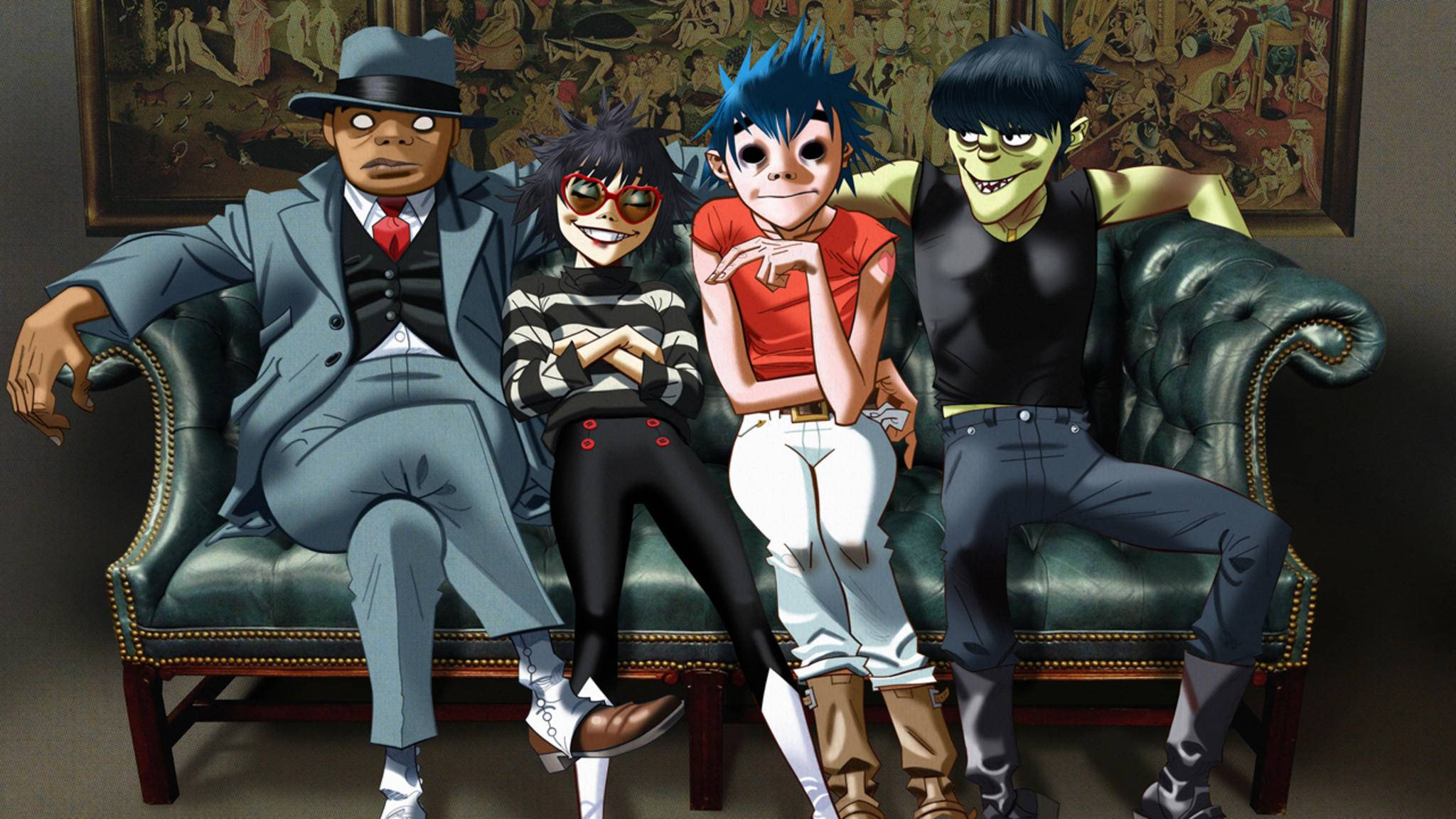Offiziell sind die Gorillaz nur zu viert. Für Alben und Live-Auftritte holt sich die Comicband aber regelmäßig hochkarätige Unterstützung.