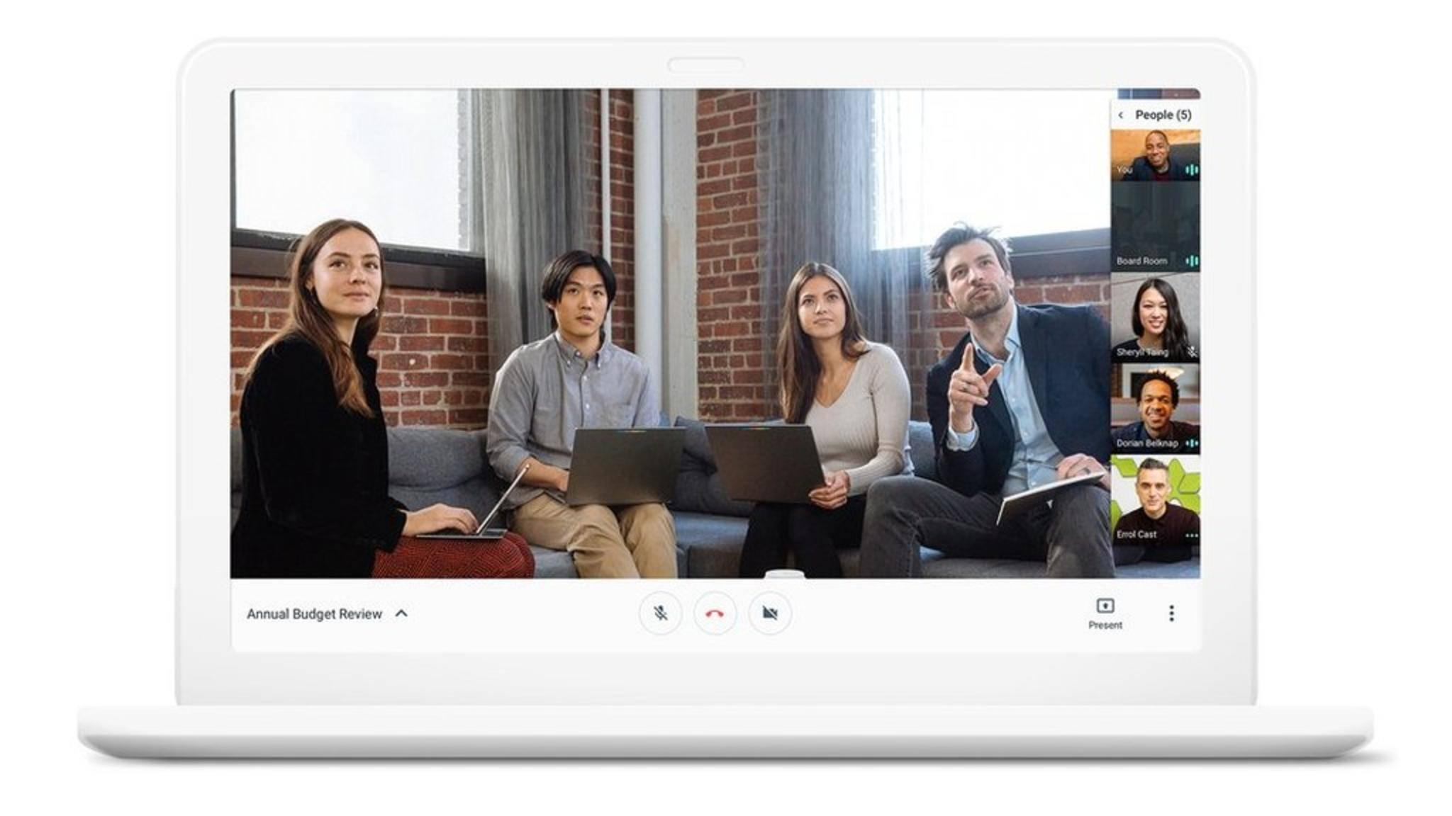 Hangouts Meet ist ein unkompliziertes Web-Programm für Business-Videokonferenzen.