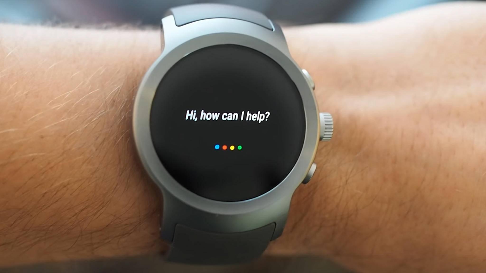 Android Wear 2.0 bringt den Google Assistant auf Smartwatches wie die LG Watch Sport.