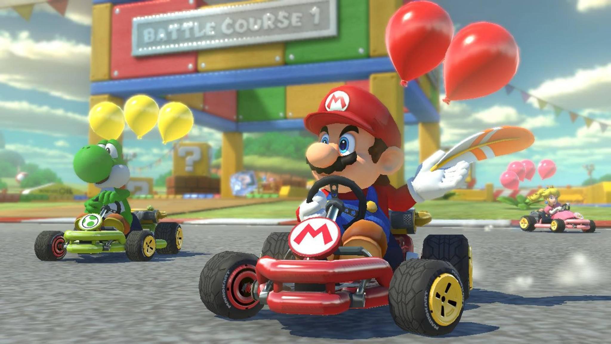 """Das Smartphone-Game """"Mario Kart Tour"""" wird gratis mit Einschränkungen sein."""