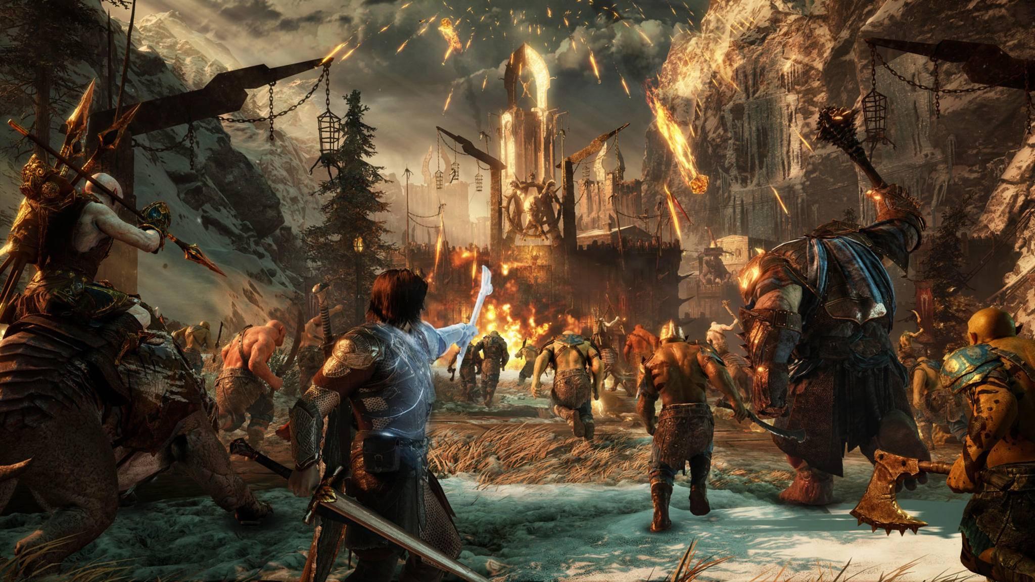 """Im Onlinemodus von """"Mittelerde: Schatten des Krieges"""" dürfen Festungen gestürmt und Freunde gerächt werden."""