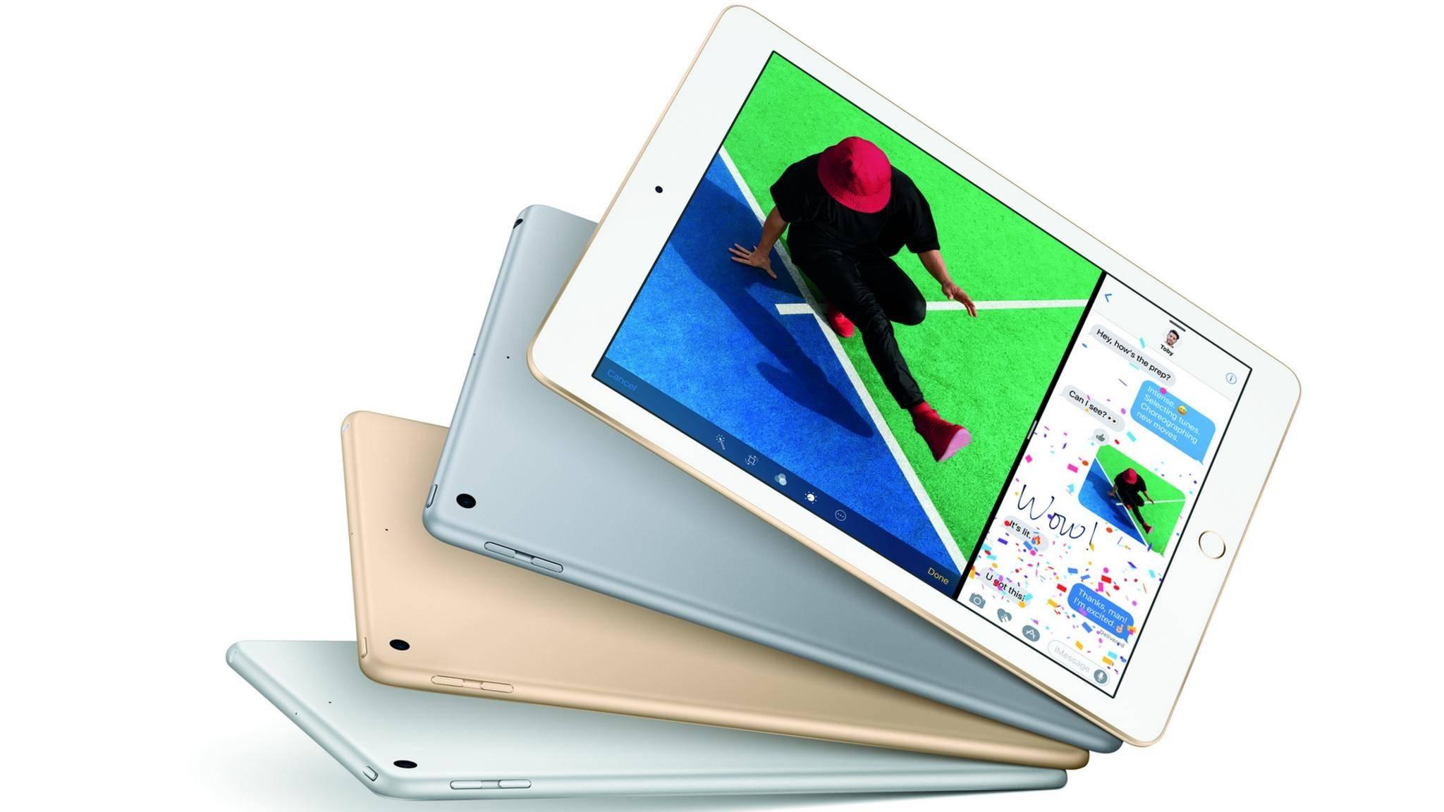 Das neue iPad tritt die Nachfolge zum iPad Air 2 an.