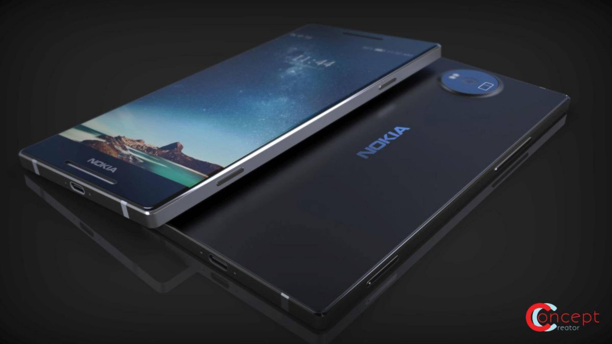 Edles Metallgehäuse, dünne Displayränder: So könnte das Nokia 8 aussehen.