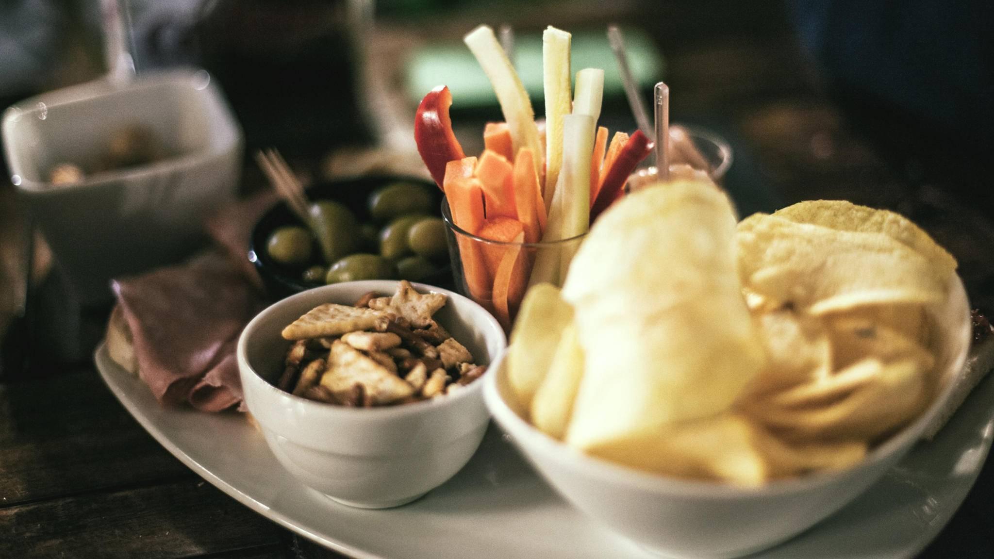 Fingerfood aller Art ist ein beliebter Partysnack.