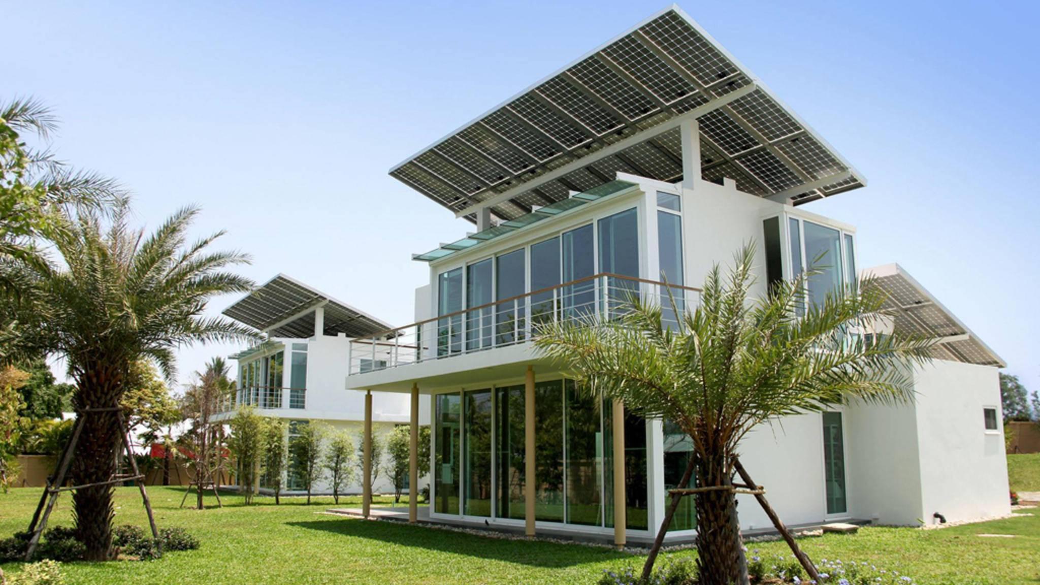 Jedes der Gebäude auf dem Gelände des Phi Suea House ist mit Solarzellen ausgestattet.
