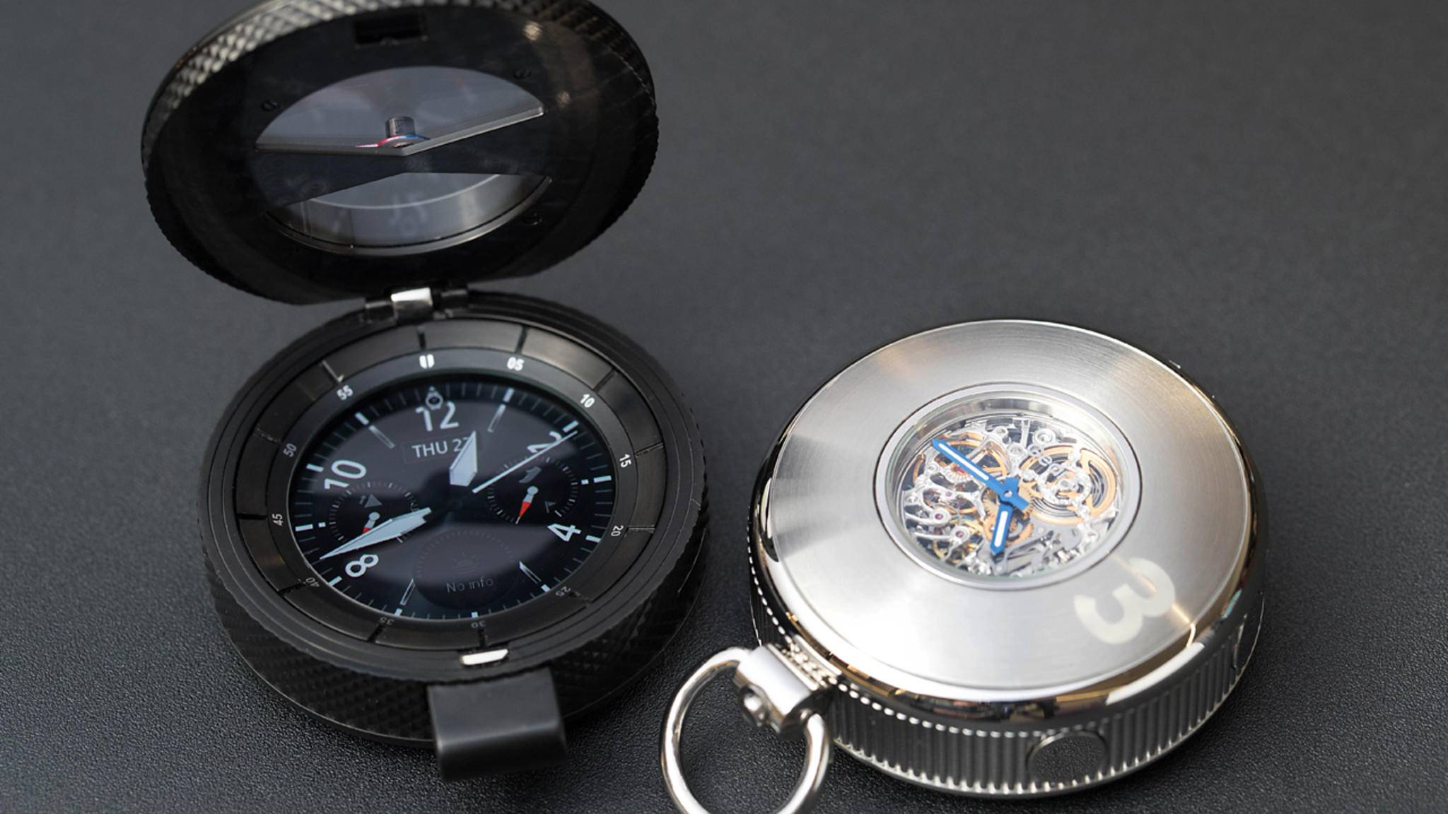 Neben einer neuen Gear S3-Variante zeigte Samsung auch abgefahrenere Uhrenkonzepte auf der Baselworld 2017.